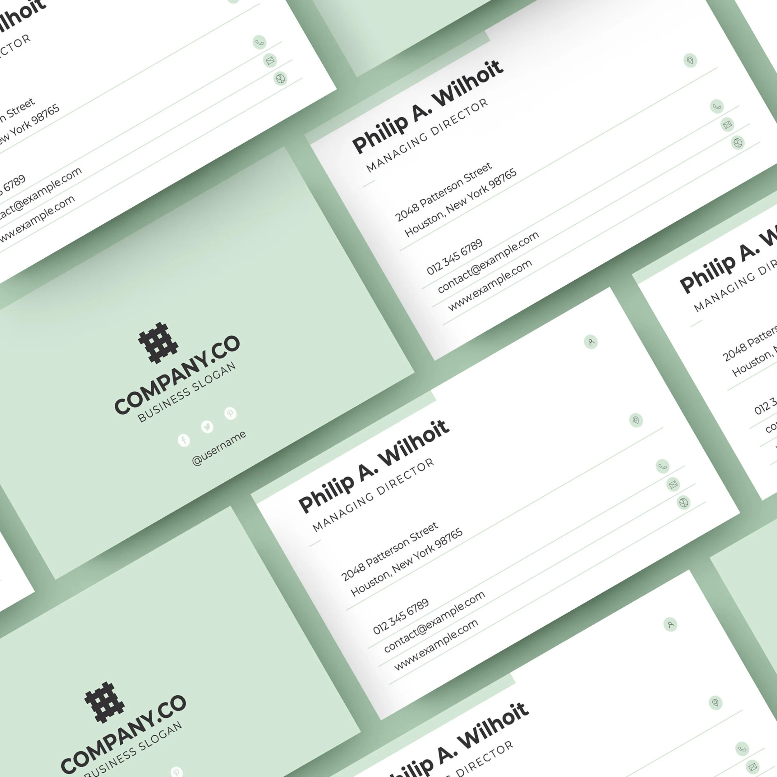 Modern  Minimal Business Card Layout Simple Business Card Etsy