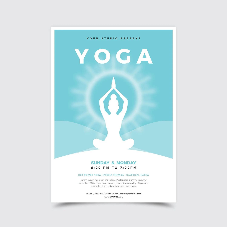 YOGA flyer template Yoga class invitation Yoga studio Etsy