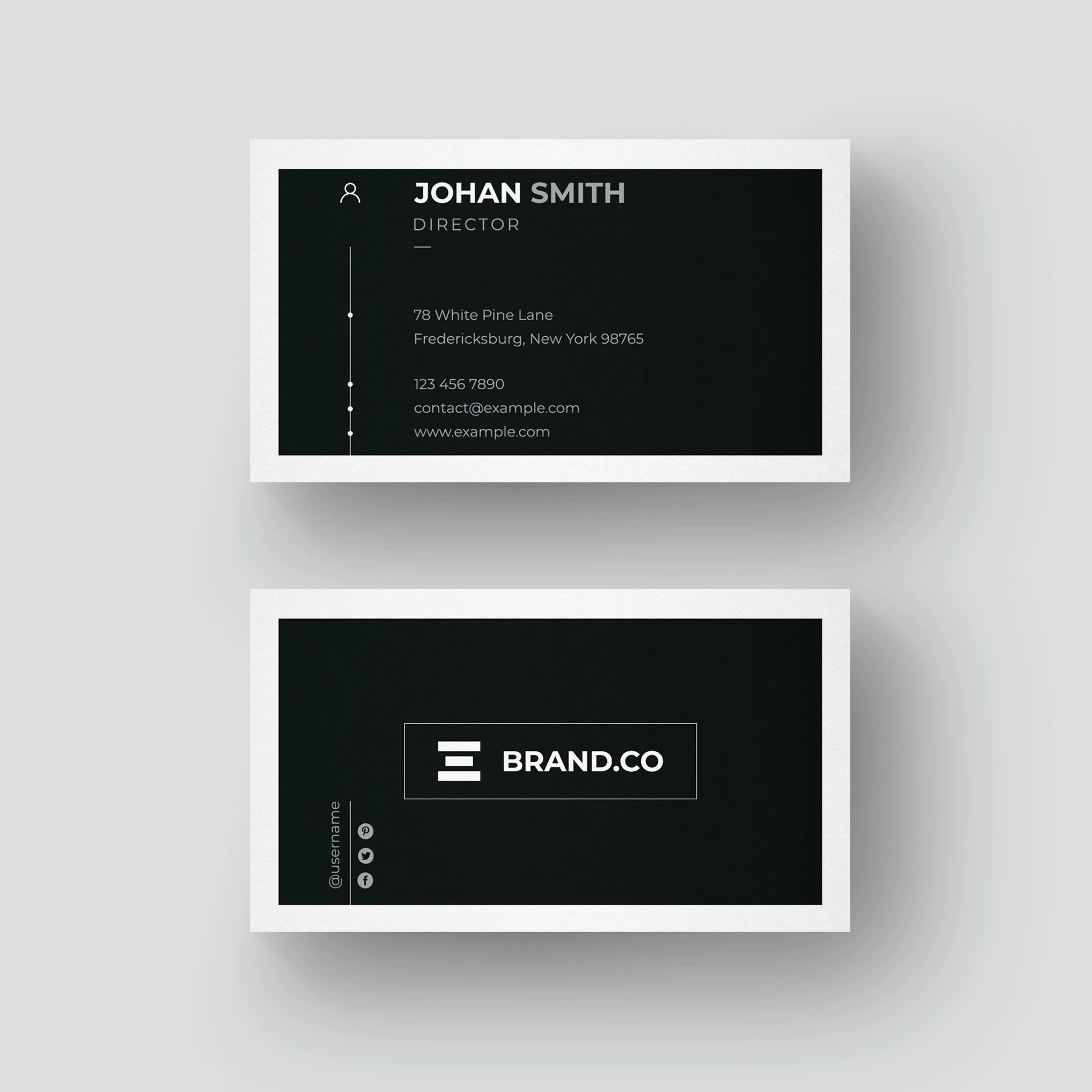 Minimalist Business Card Design Clean and Professional Etsy
