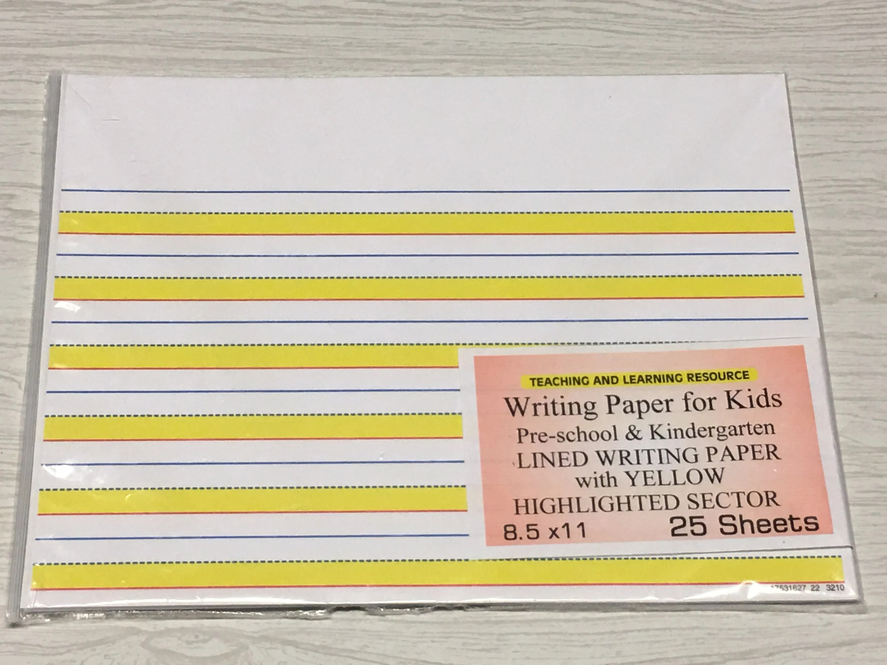Writing Paper for Kids Lined Writing Paper with yellow Etsy