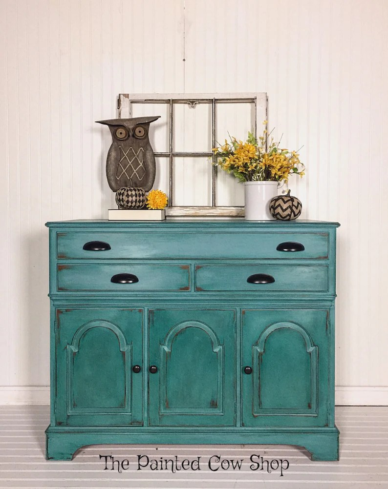 Buffet Sideboard Blue Sideboard Buffet Entryway Table Vintage Buffet Blue Hutch