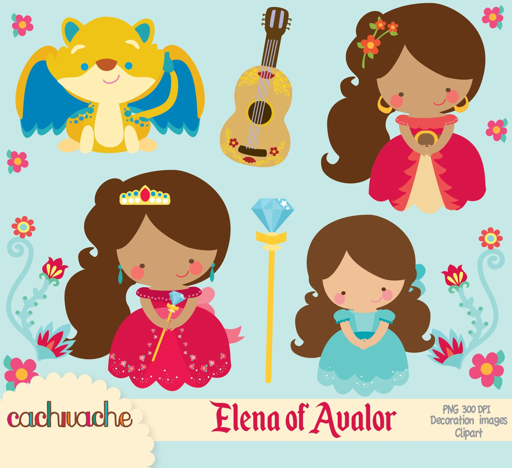 Arte Definition Francais Elena Of Avalor Clipart Png And Jpg High Definition Instant Download Disney Inspired Princess Party Printables Disney Elena De Avalor
