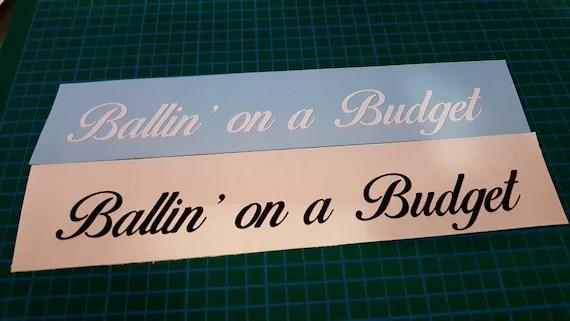 Ballin\u0027 on a budget Etsy