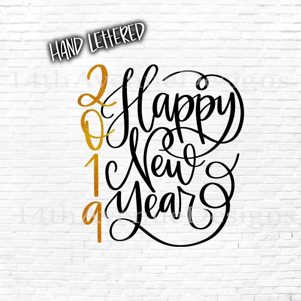 Happy New Year PNG / Great for Sublimation / Happy New Year Etsy