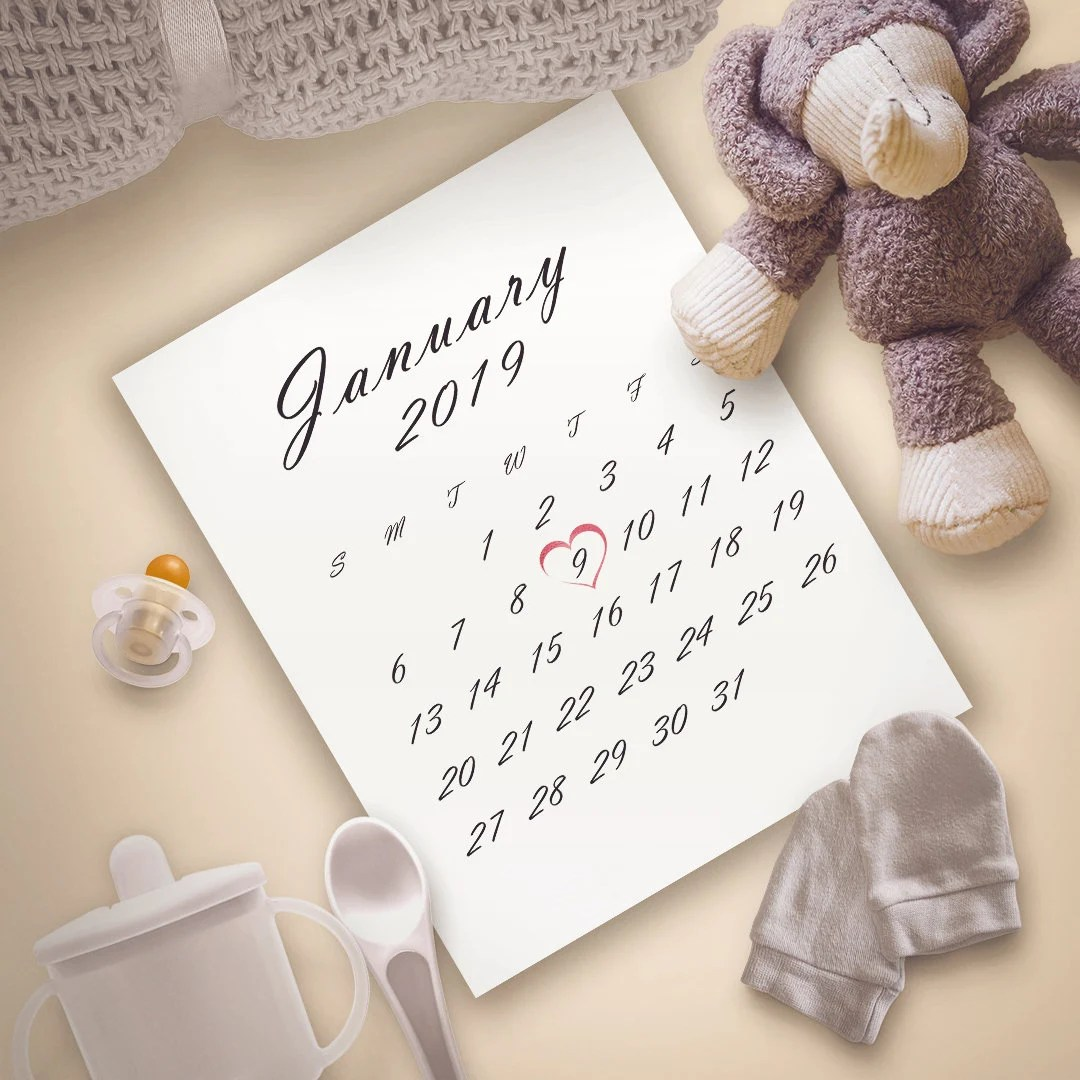 LAST DAY SALE 50 All months Pregnancy Announcement Calendar Etsy