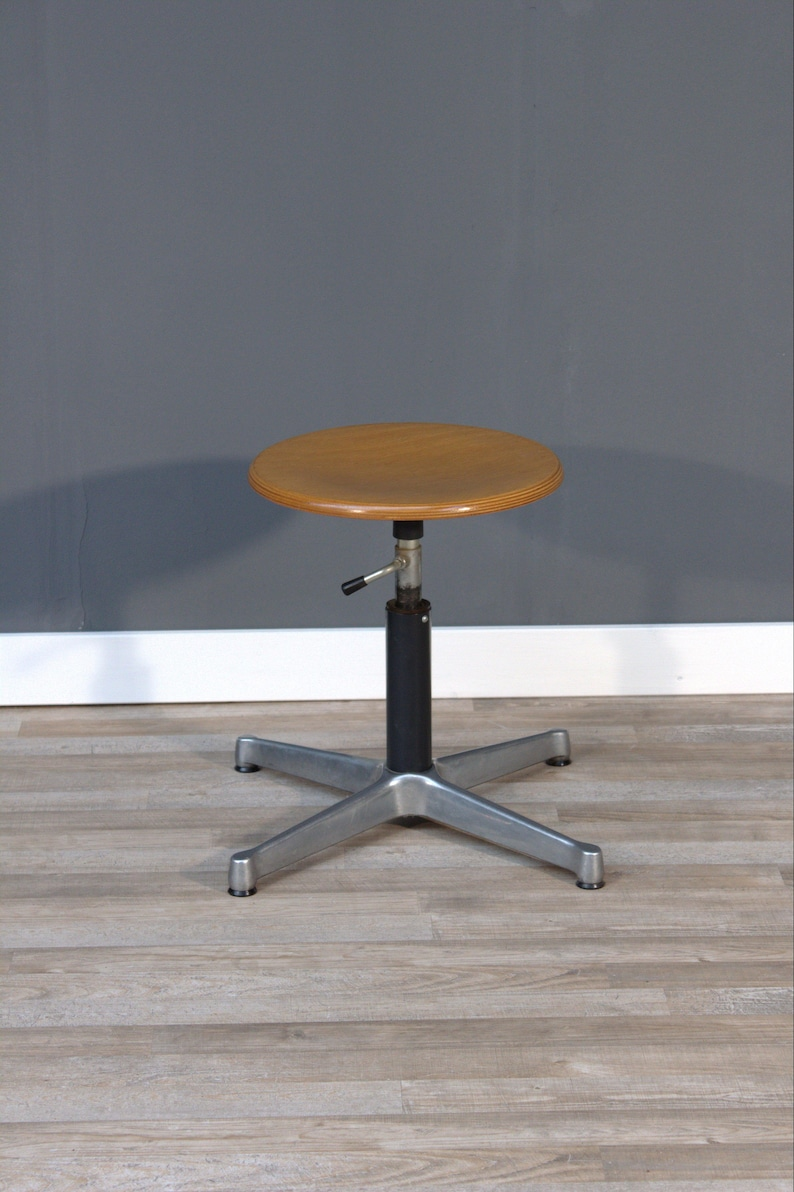 Egon Eiermann Industrial Stool Work Stool By Egon Eiermann
