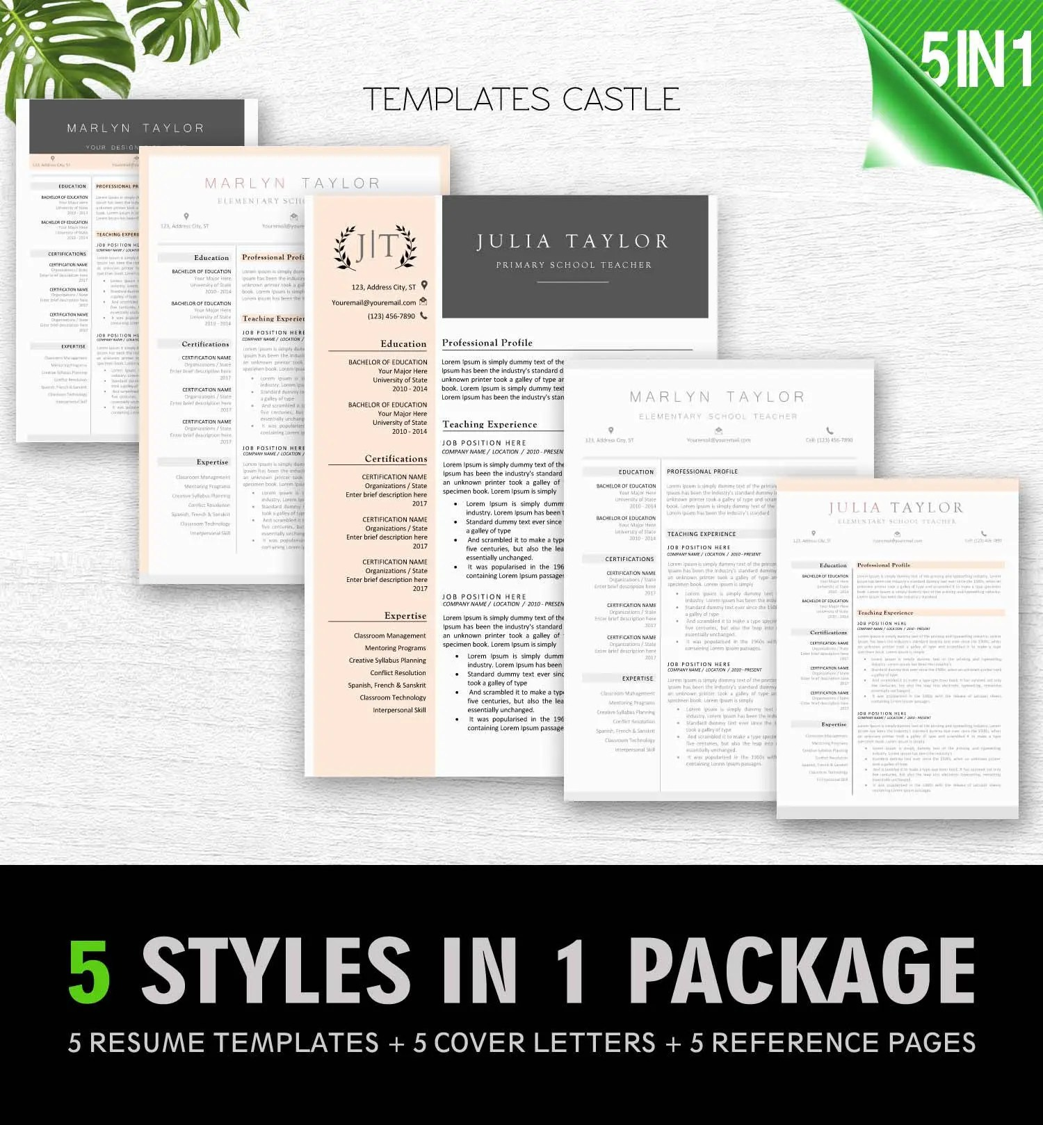 Resume Template Modern Professional Word Creative CV Modern Etsy