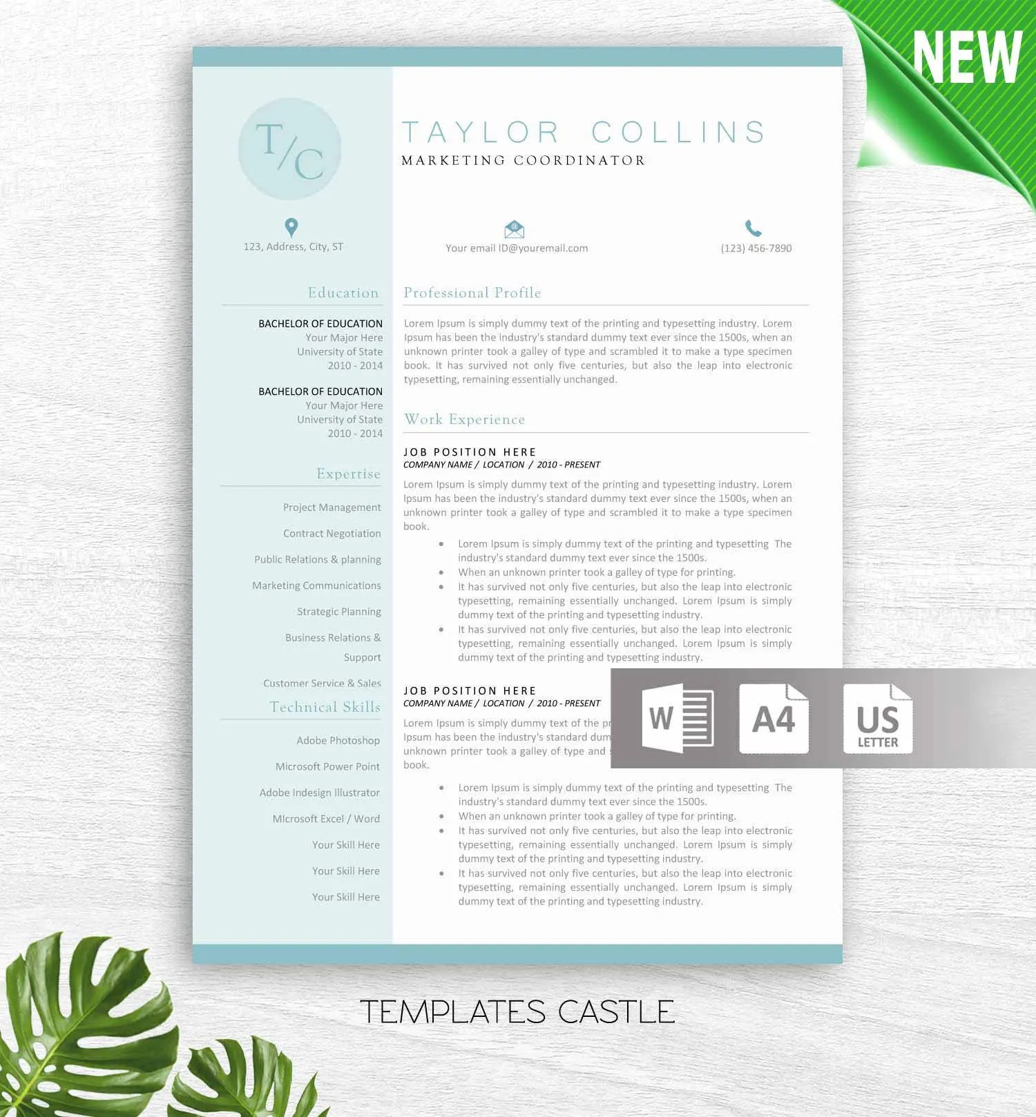 Educator Resume Template for Word Principal Resume Teacher Etsy