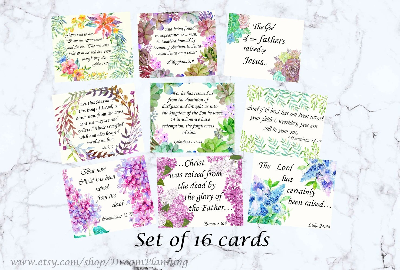 Easter bible verses cards scripture memory cards ESV scripture Etsy