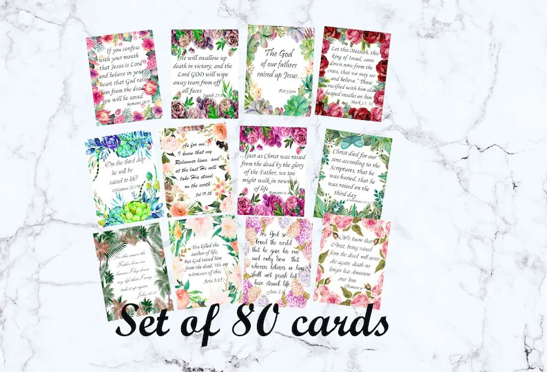 Easter scriptures Easter Bible Verse cards printable bible Etsy