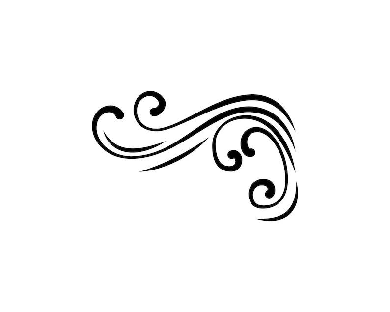 Filigree flourish corner SVG Decorative ornamental element Etsy