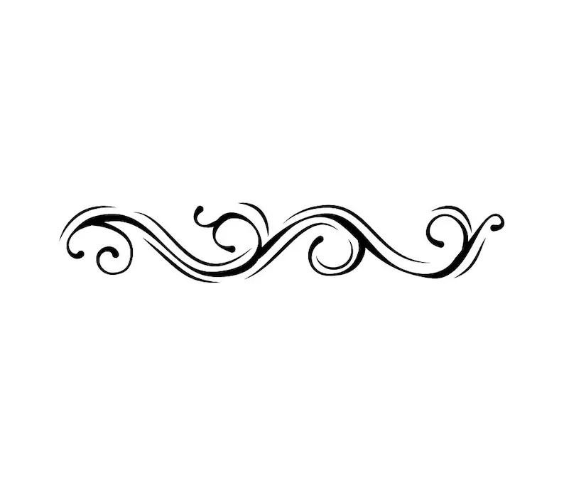 Swirl floral line SVG Page border Decoration Ornament Etsy
