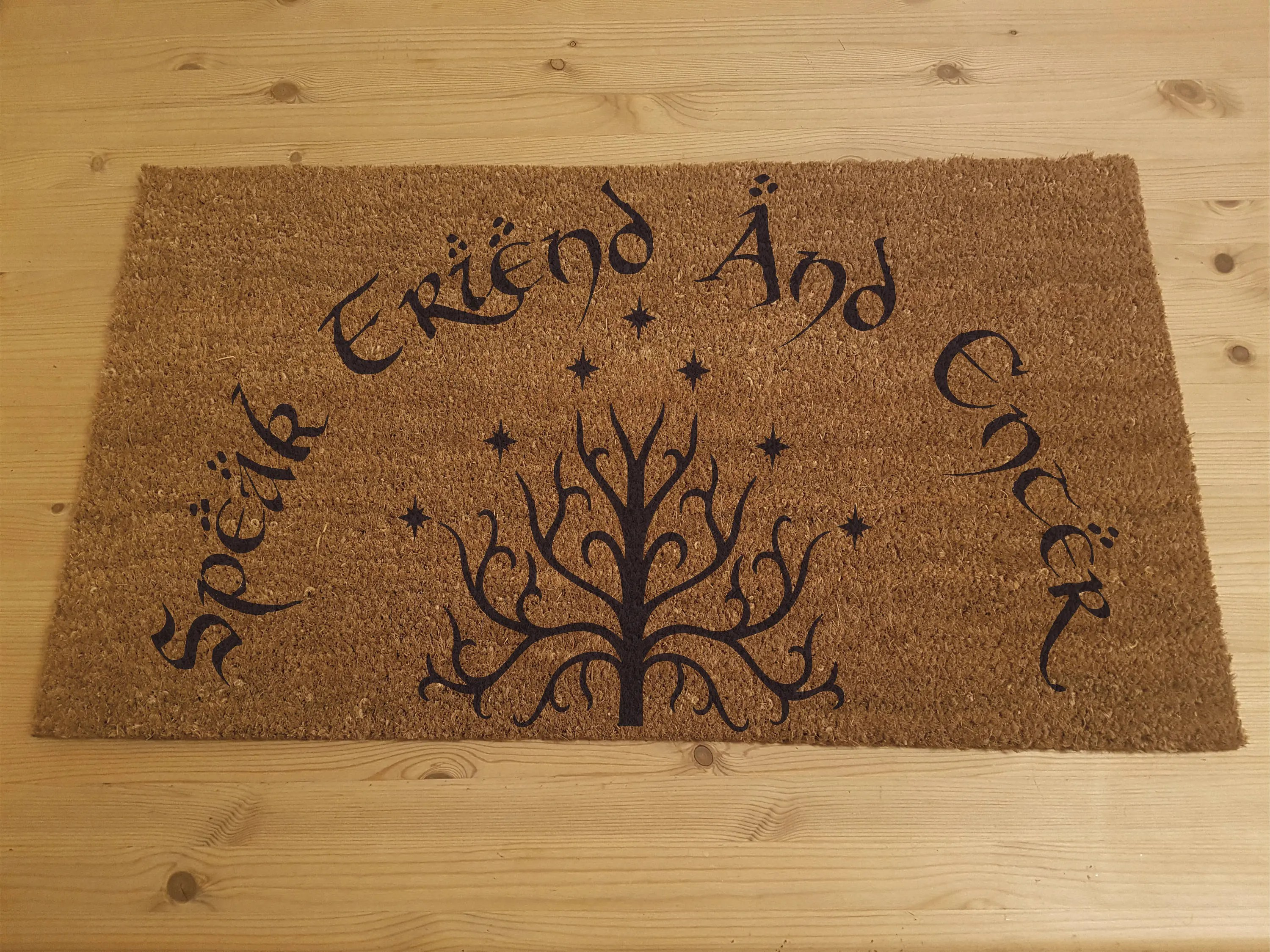 The Walking Dead Teppich Lord Of The Rings Inspired Doormat Speak Friend And Enter Tolkien With Tree Of Gandor