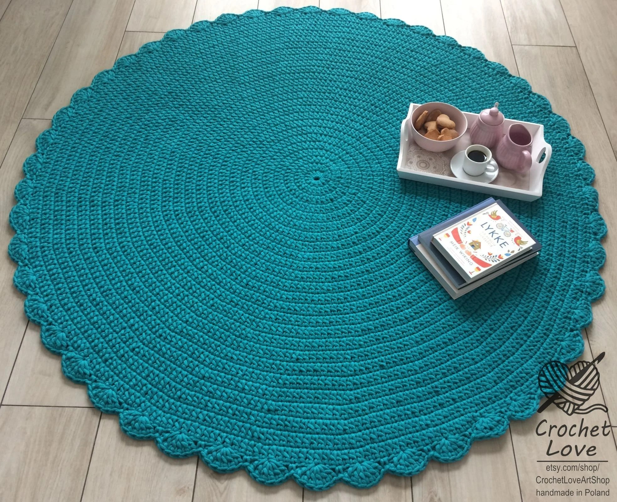 Runde Teppiche Modern Many Colors Many Sizes Modern Crochet Rug Round Rug Teppiche Runde Teppich Children Rug Crochet Carpet Cotton Emerald Crochet Rug