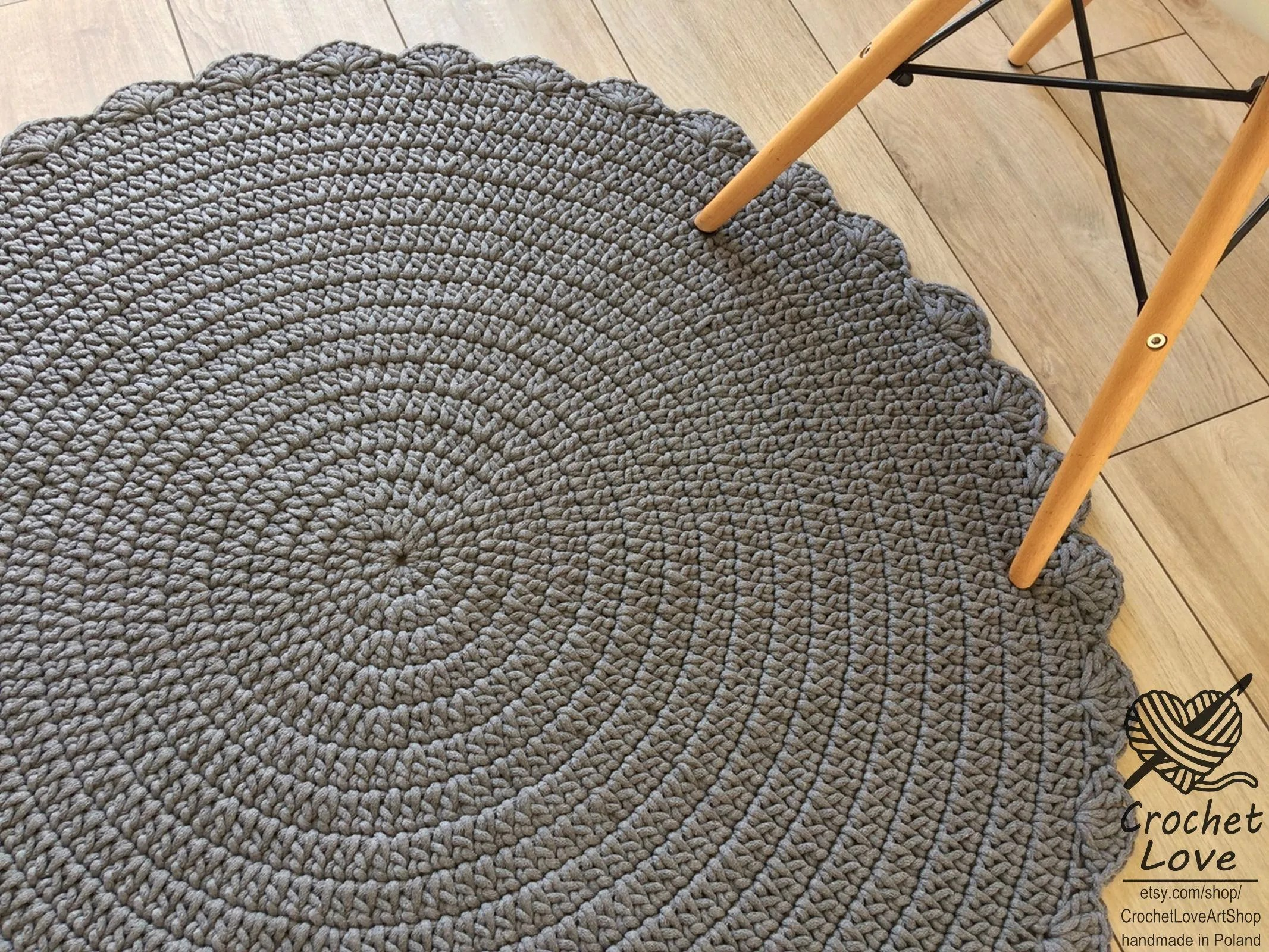 Runde Teppiche Modern Many Colors Many Sizes Modern Crochet Rug Round Rug Teppiche Runde Teppich Children Rug Crochet Carpet Cotton Rug Taupe Crochet Rug