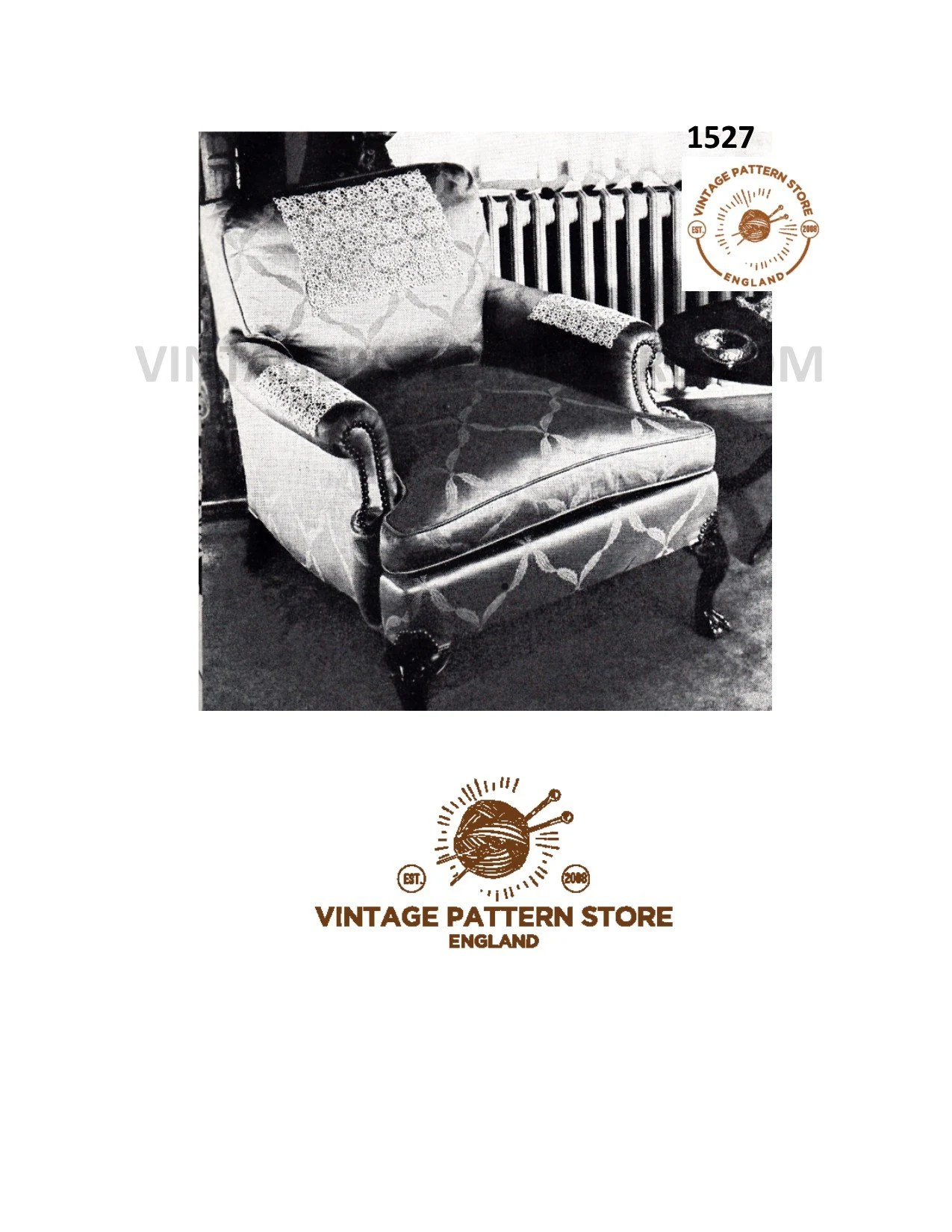 Sofa Vintage A Vendre Chair Back Covers Crochet Pattern Vintage Settee Back Covers Sofa Back Covers And Chair Arm Covers Instant Pdf Download 1527