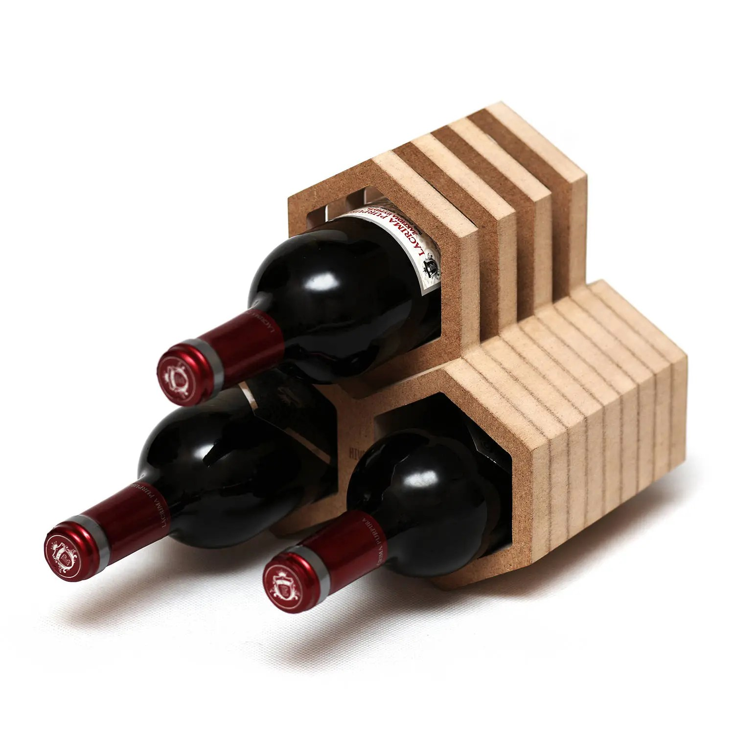 Wine Holder Stand Wooden Wine Rack Wine Holder Wooden Wine Table Stand Bottle Holder Wood Wine Collection Rack Honeycomb Rack Sommelier Gift