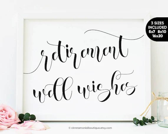 Retirement Party Printable Signs Kit Road Signs Travel Etsyhappy