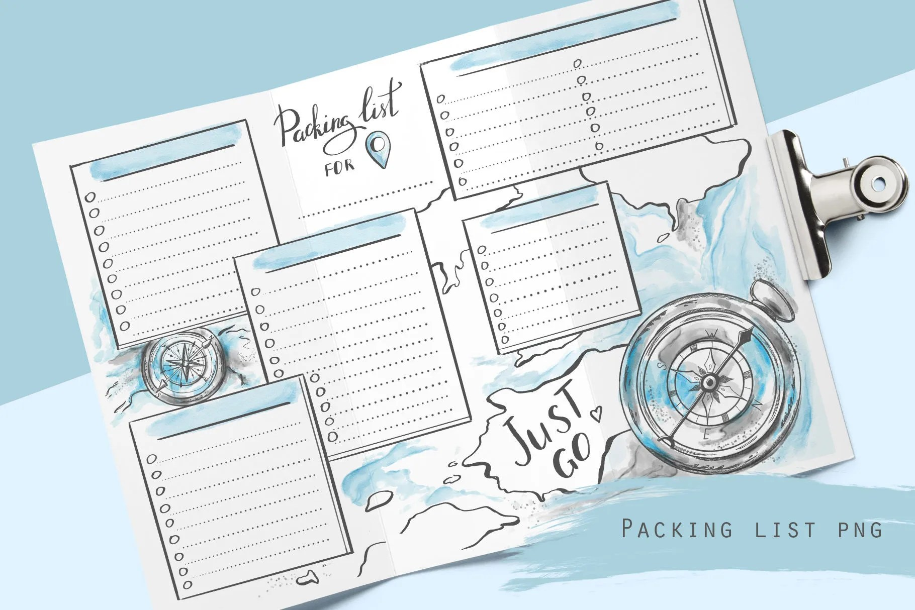 Printable travel packing list for planner and travel journal Etsy