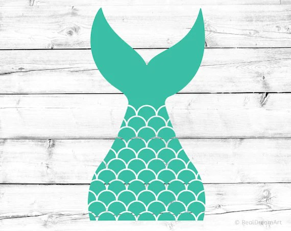 Mermaid Tail Svg Mermaid Shell Svg Mermaid Tail Silhouette Svg Etsy
