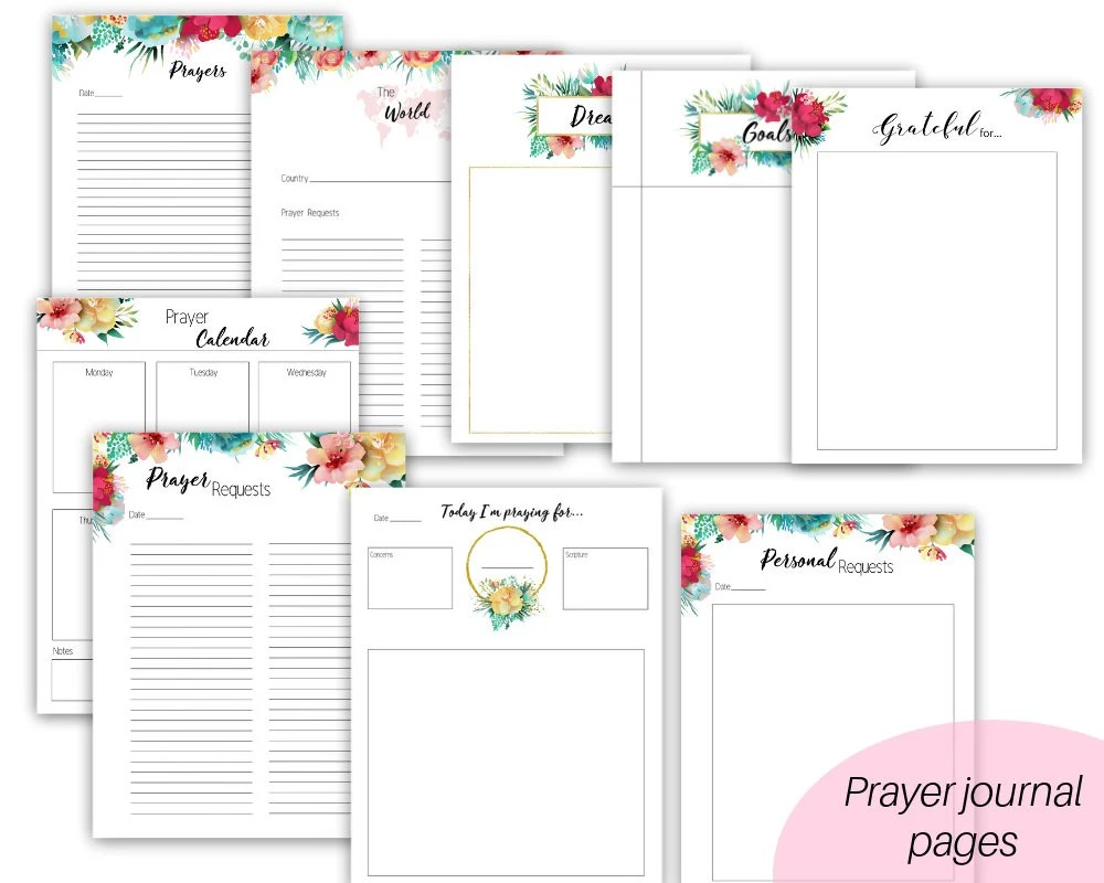 Prayer journal Prayer binder christian journal prayer Etsy
