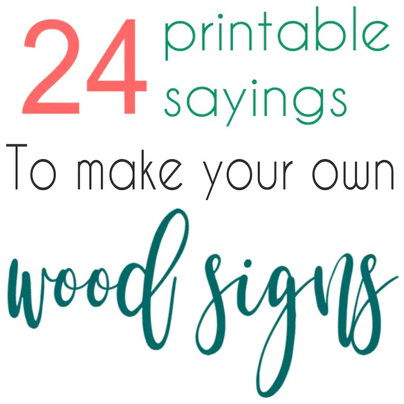 24 Printable sayings to make your own wood signs DIGITAL Etsy