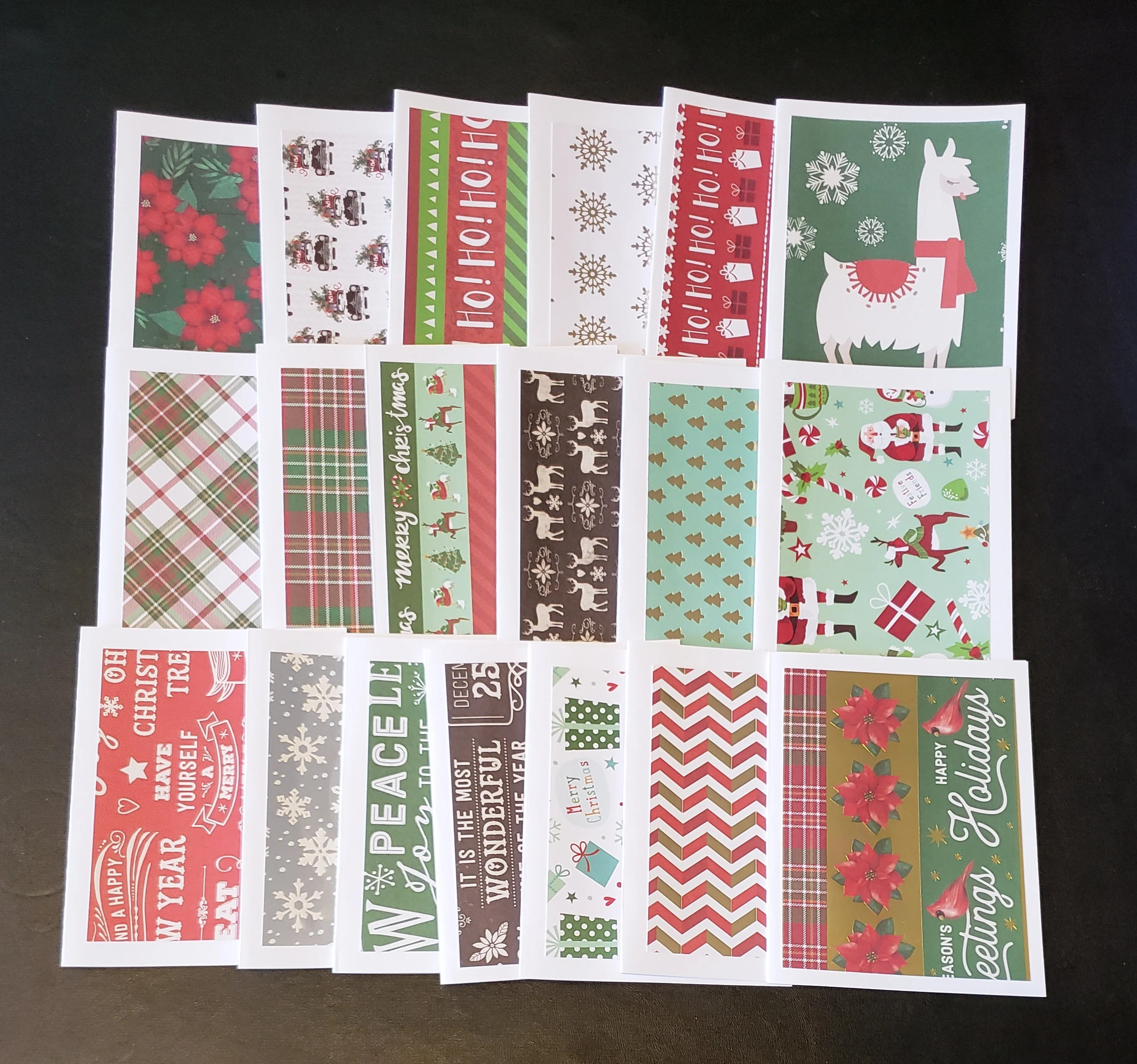 6 Christmas cards and envelopes A2 card size 425x55 Etsy