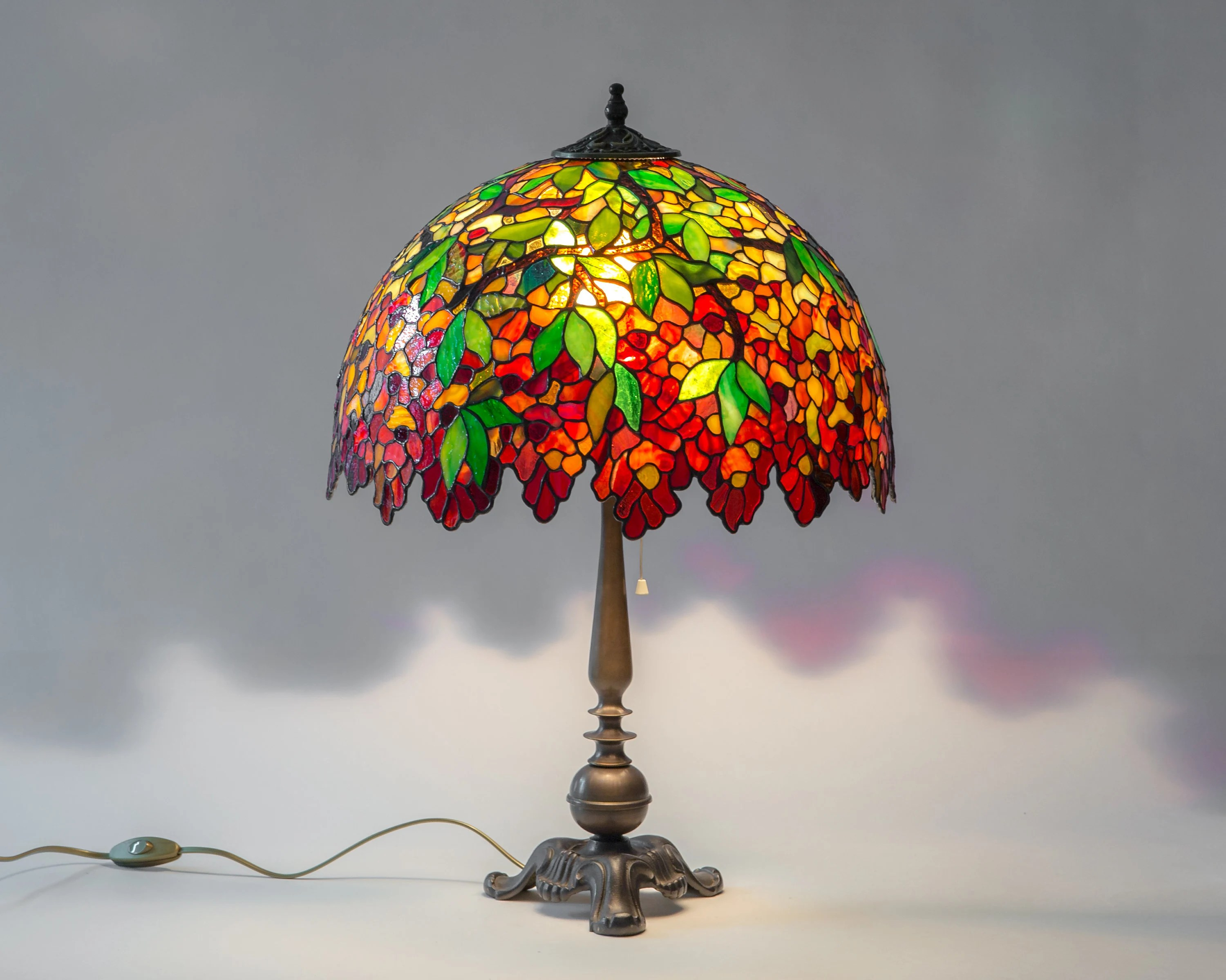 Glass Lamp Art Stained Glass Lamp Art Nouveau Lamp Shade Gift For Christmas Modern Bedside Lamp Decor
