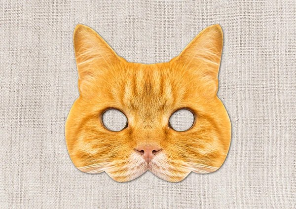 Ginger Cat Printable Mask Cat Photo-Real Cat Mask Printable Etsy