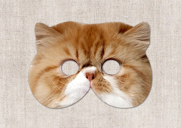British Shorthair Cat Printable Mask Cat Photo-Real Cat Etsy
