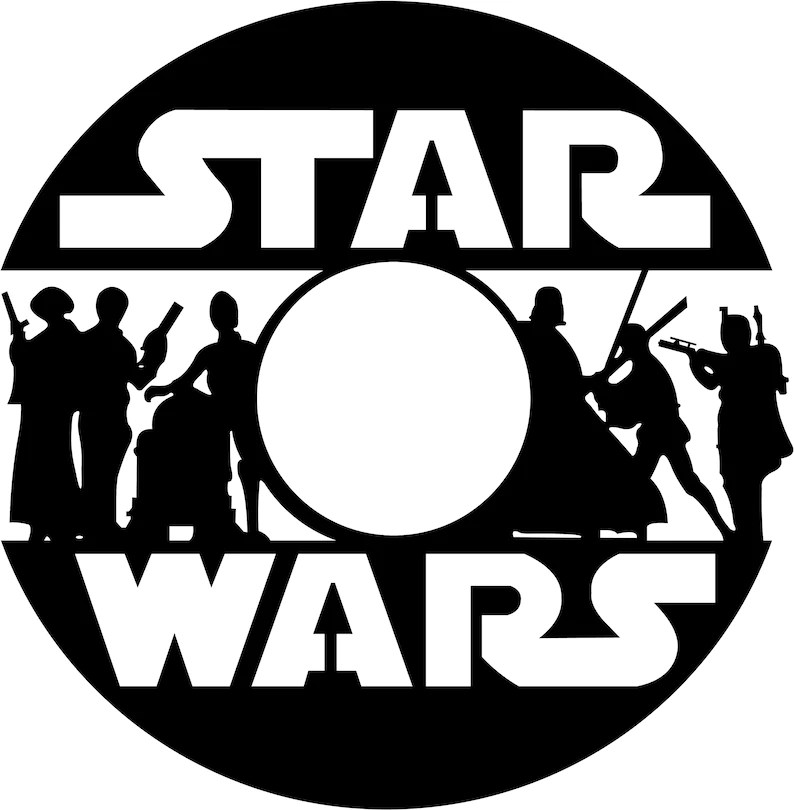 Star Wars Star Wars for vynil record svg Star Wars printable Etsy