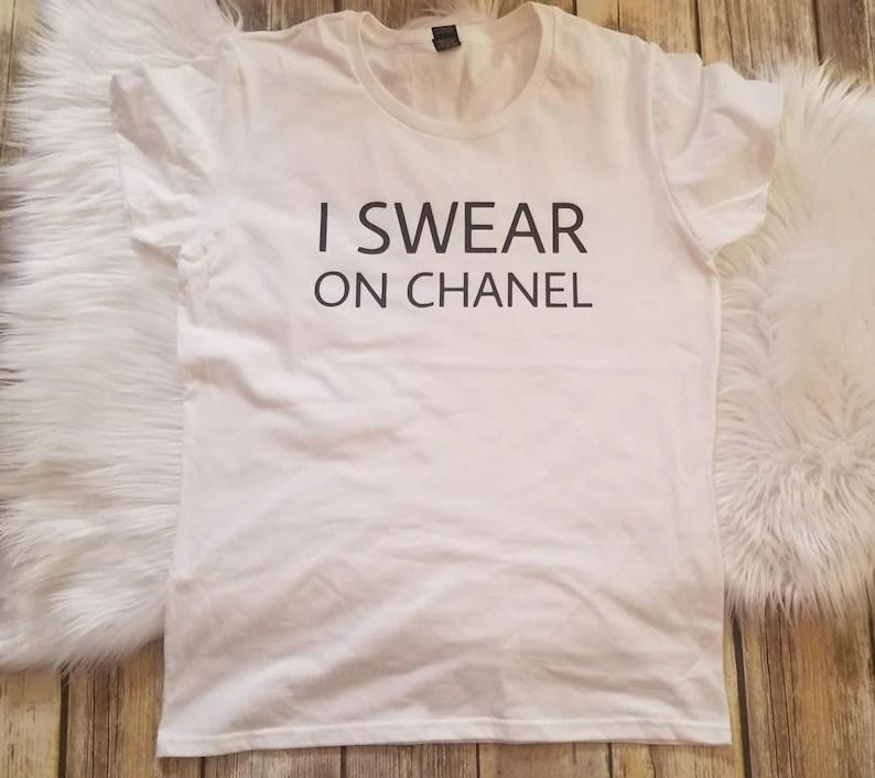I Swear On Chanel Shirt Carrie Bradshaw Shirt Chanel Etsy