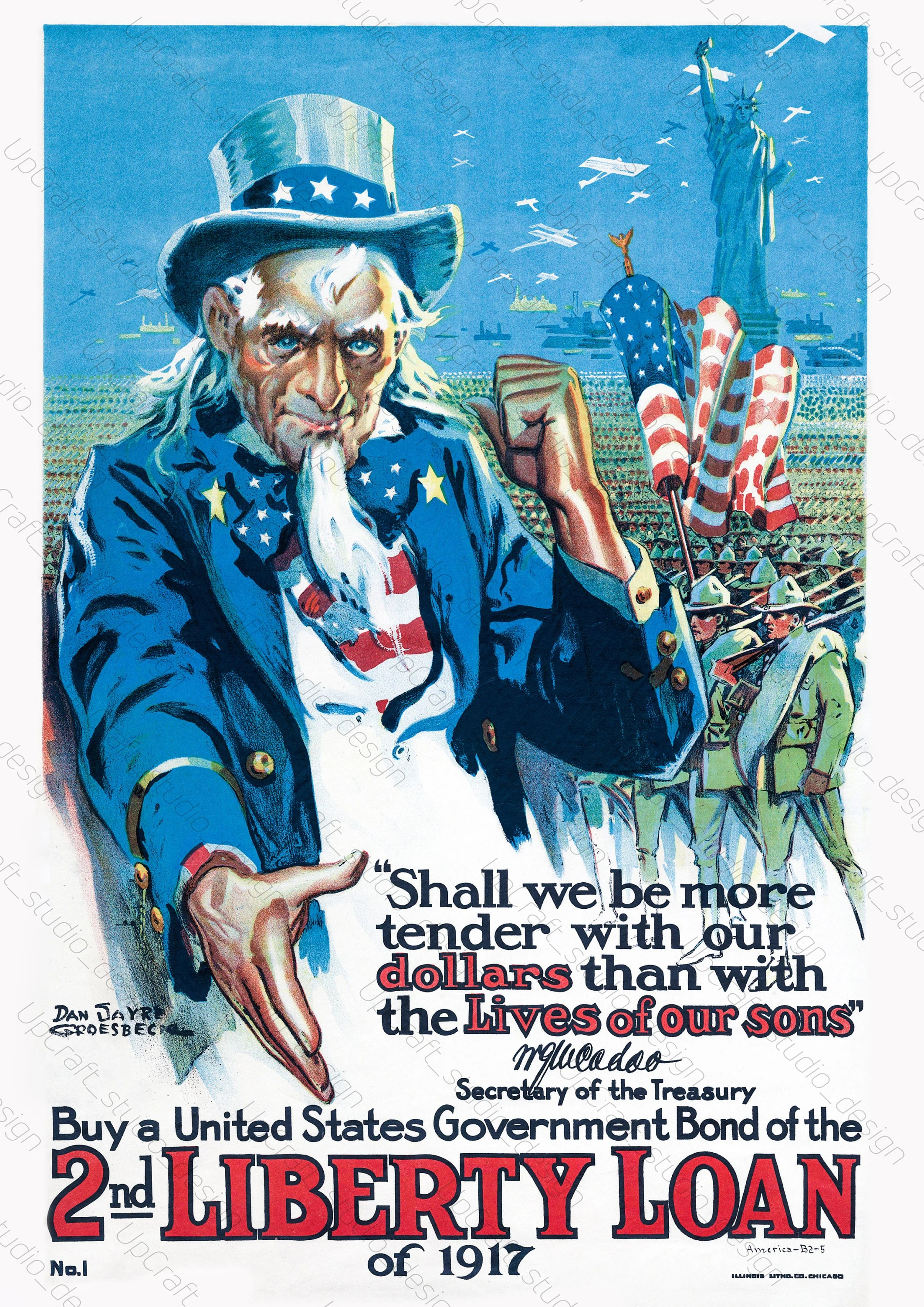 Printables Vintage Uncle Sam Poster ww1 replica wwi repro Etsy