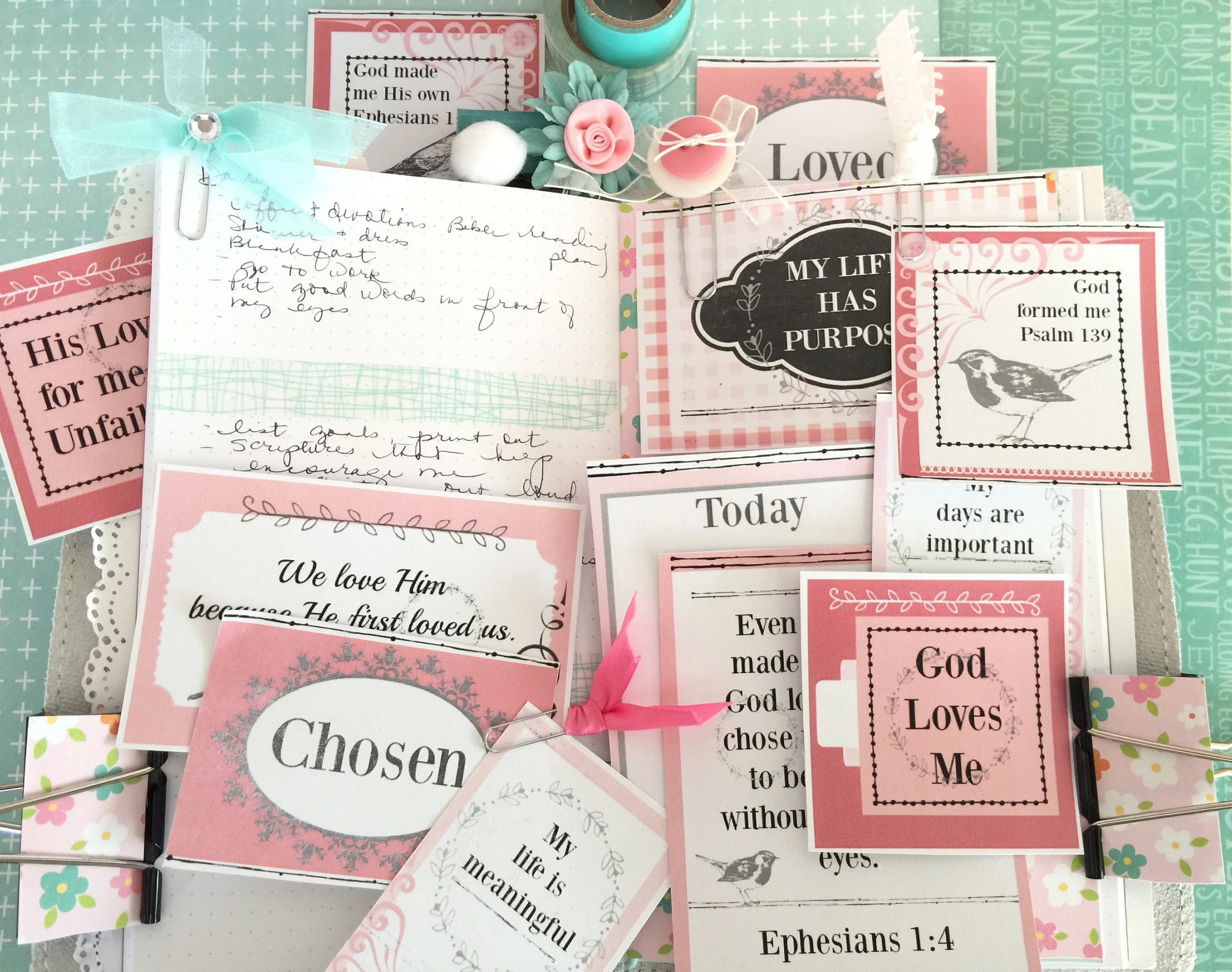 Bible and Scripture Journaling Planner Cards God Loves me and Etsy