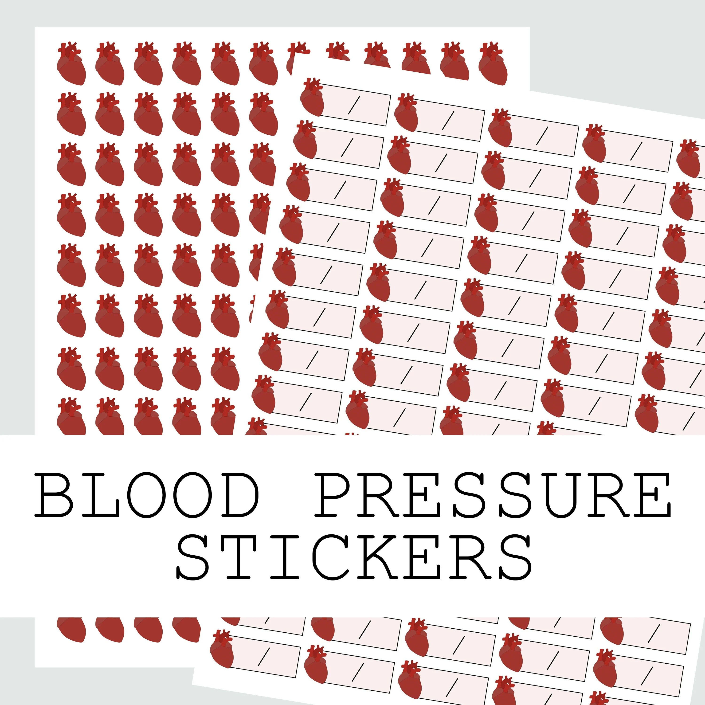 Blood Pressure Chart Stickers for Monitoring Your Blood Etsy