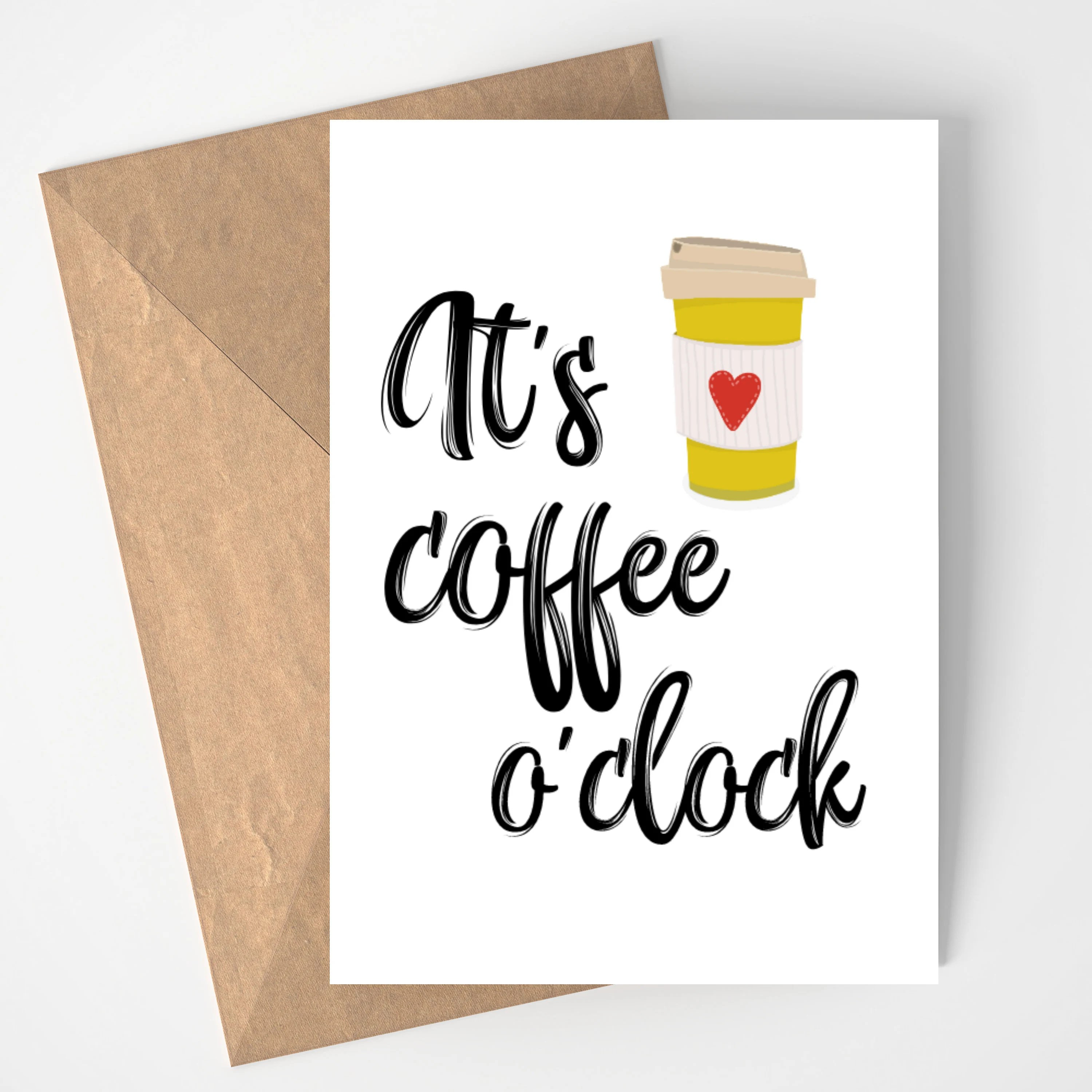 Printable Coffee Invitation Quarter Fold Card Coffee Lover Etsy