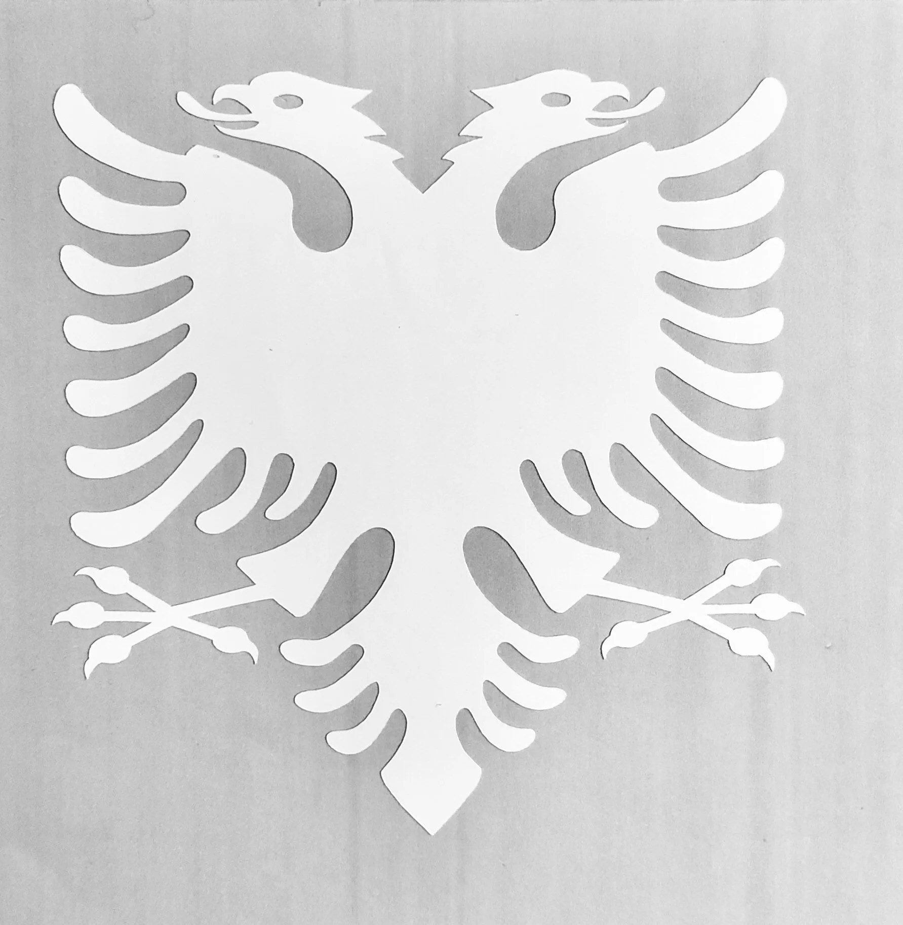 Albanian double-headed eagle made in white or black | Etsy