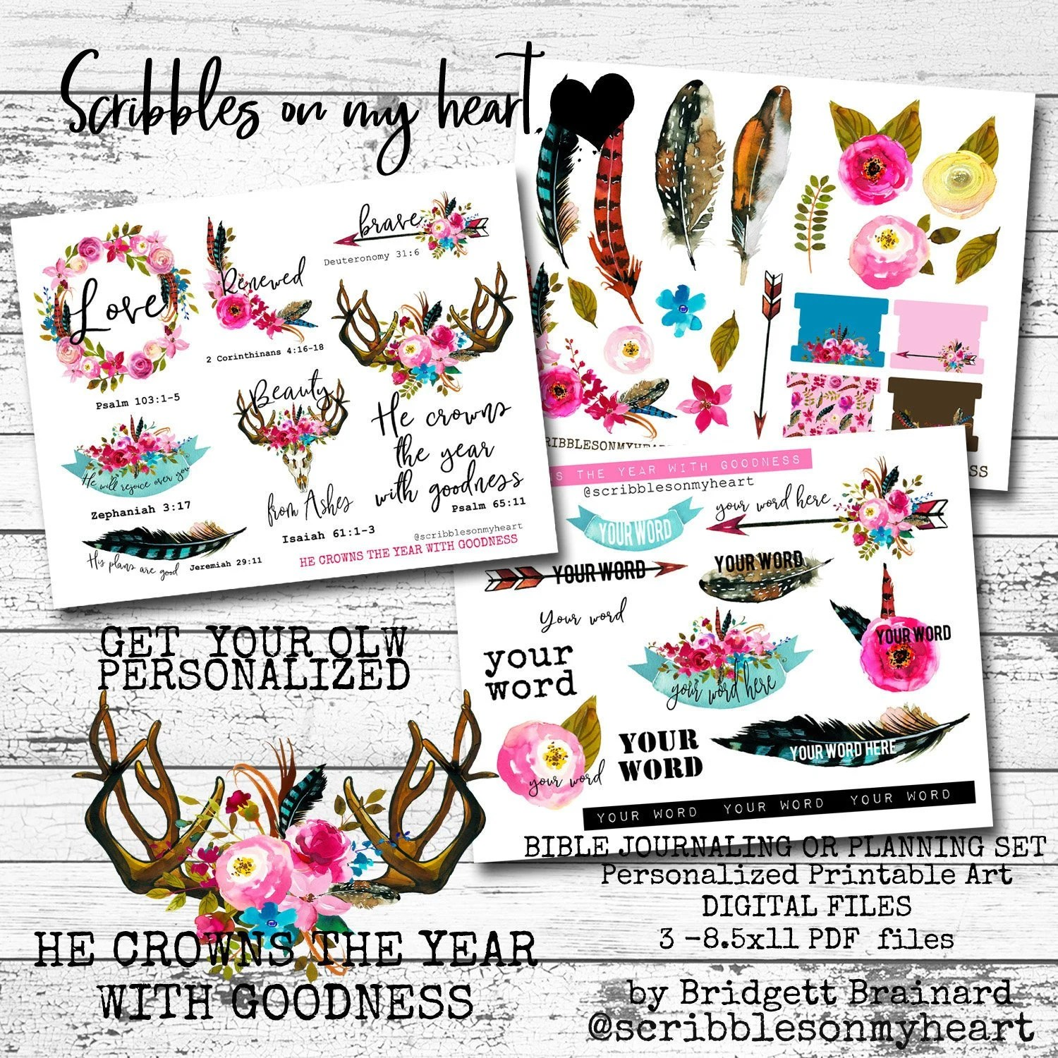 He Crowns the Year with Goodness Bible Journaling Printable Etsy