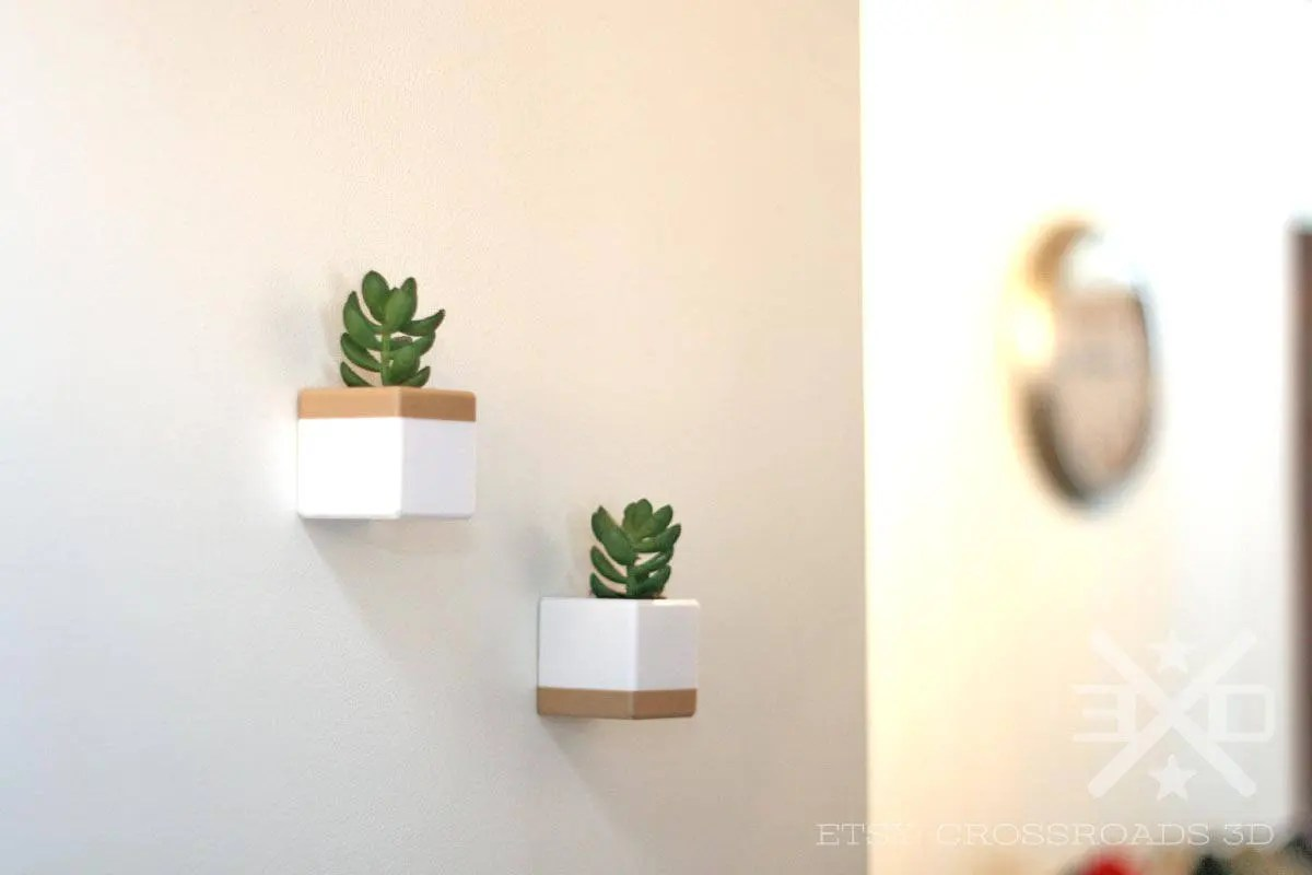 Cubicle Wall Planter Pair Of Cube Wall Planters For Succulents Cactus Or Airplants