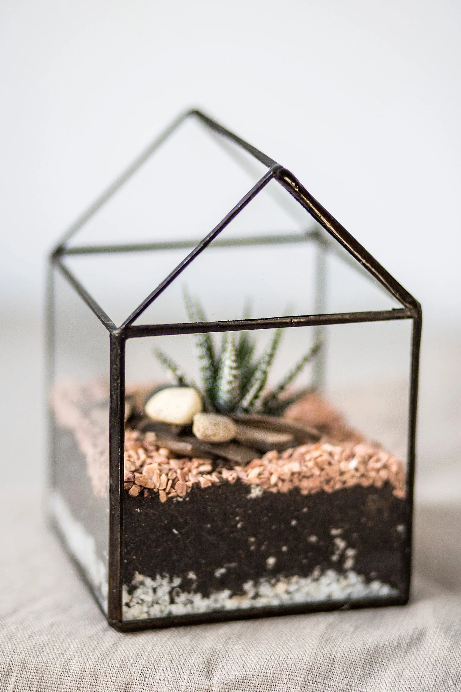 Indoor Gewächshaus Klein Little Glass House Special For Cactus Air Plants Or Candles