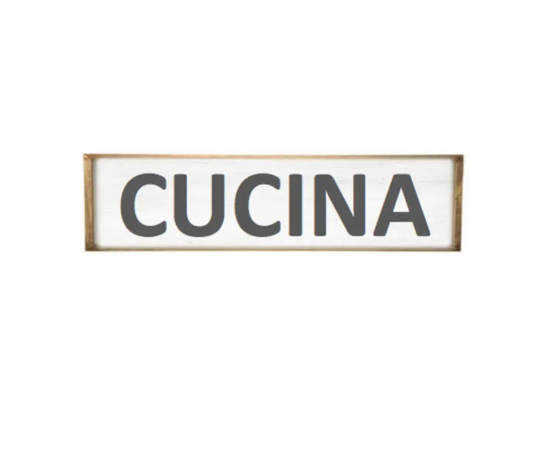 Cucina Kitchen Sign Cucina Sign Italian Farmhouse Style Distressed Wood Kitchen
