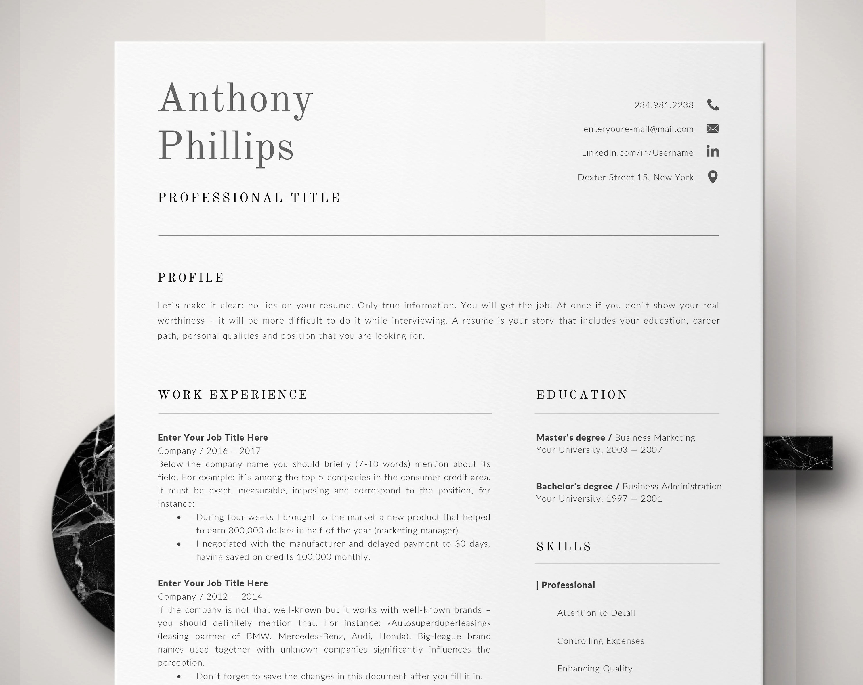 Accountant Resume Pack Office Worker Resume Administrative Etsy