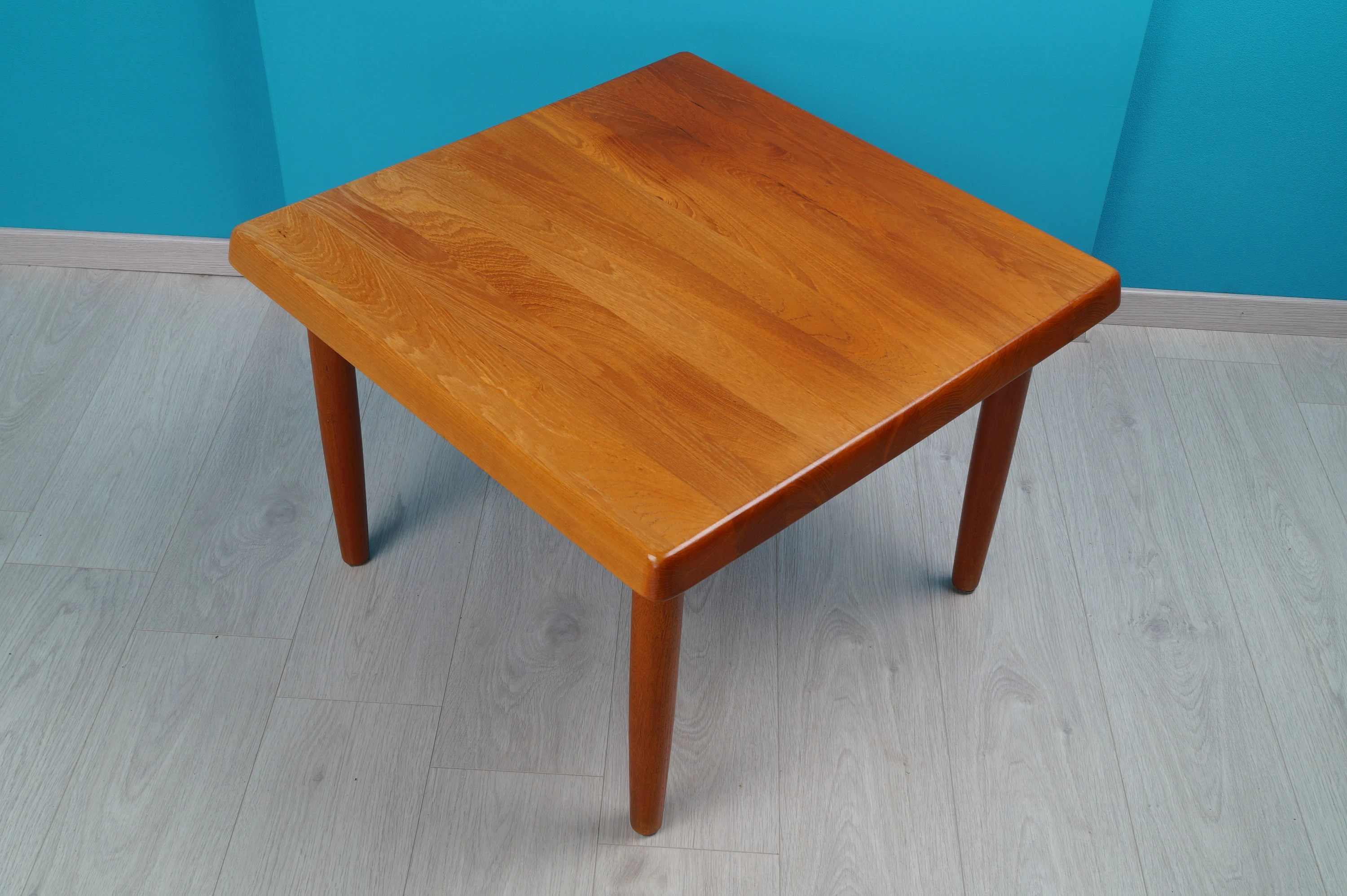Teak Couchtisch Danish Teak Coffee Table Square Niels Bach 60s Full Teak Danish