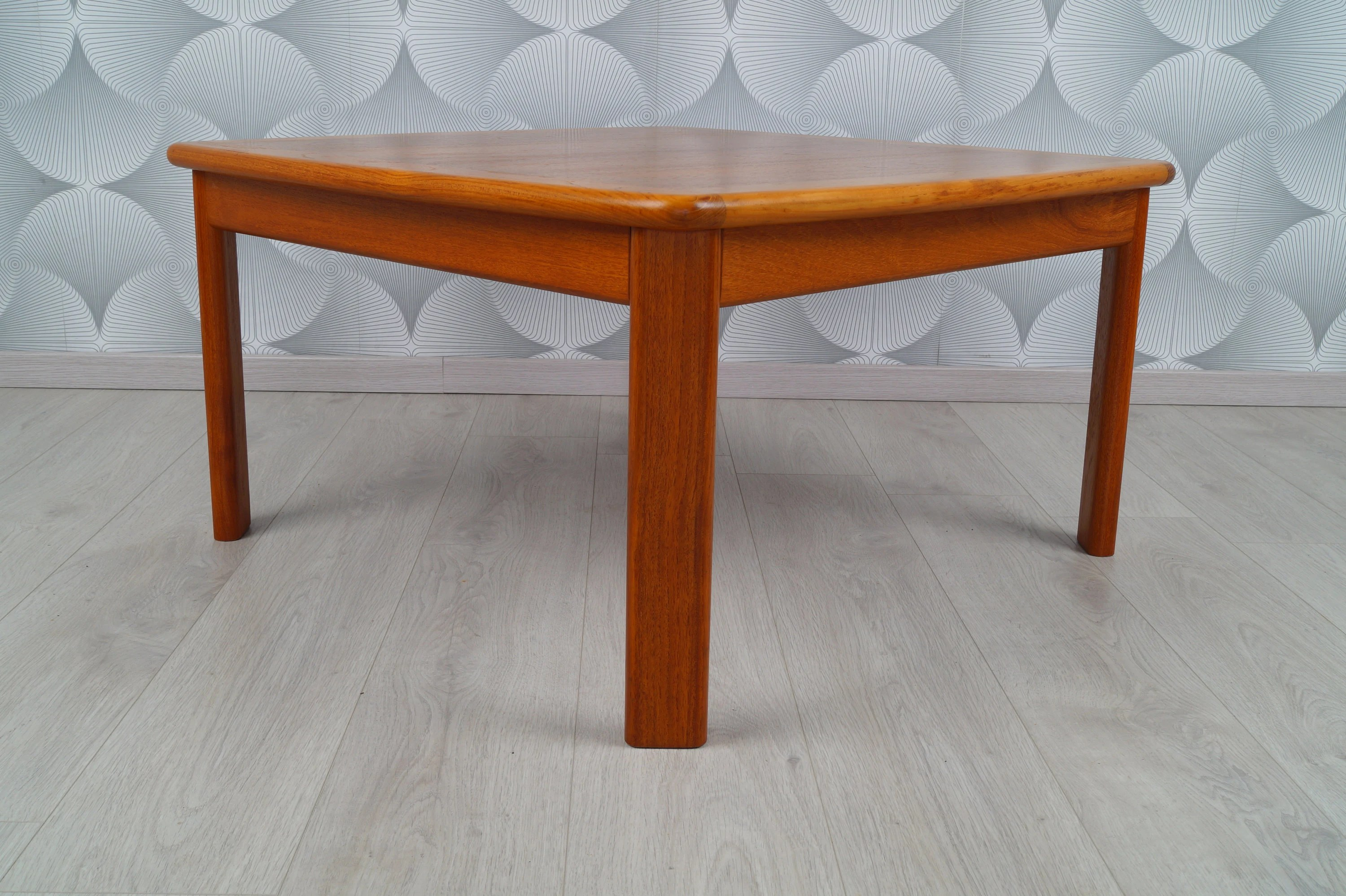Danish Design Couchtisch Teak Coffee Table Side Table Square 60s Danish Design Midcentury