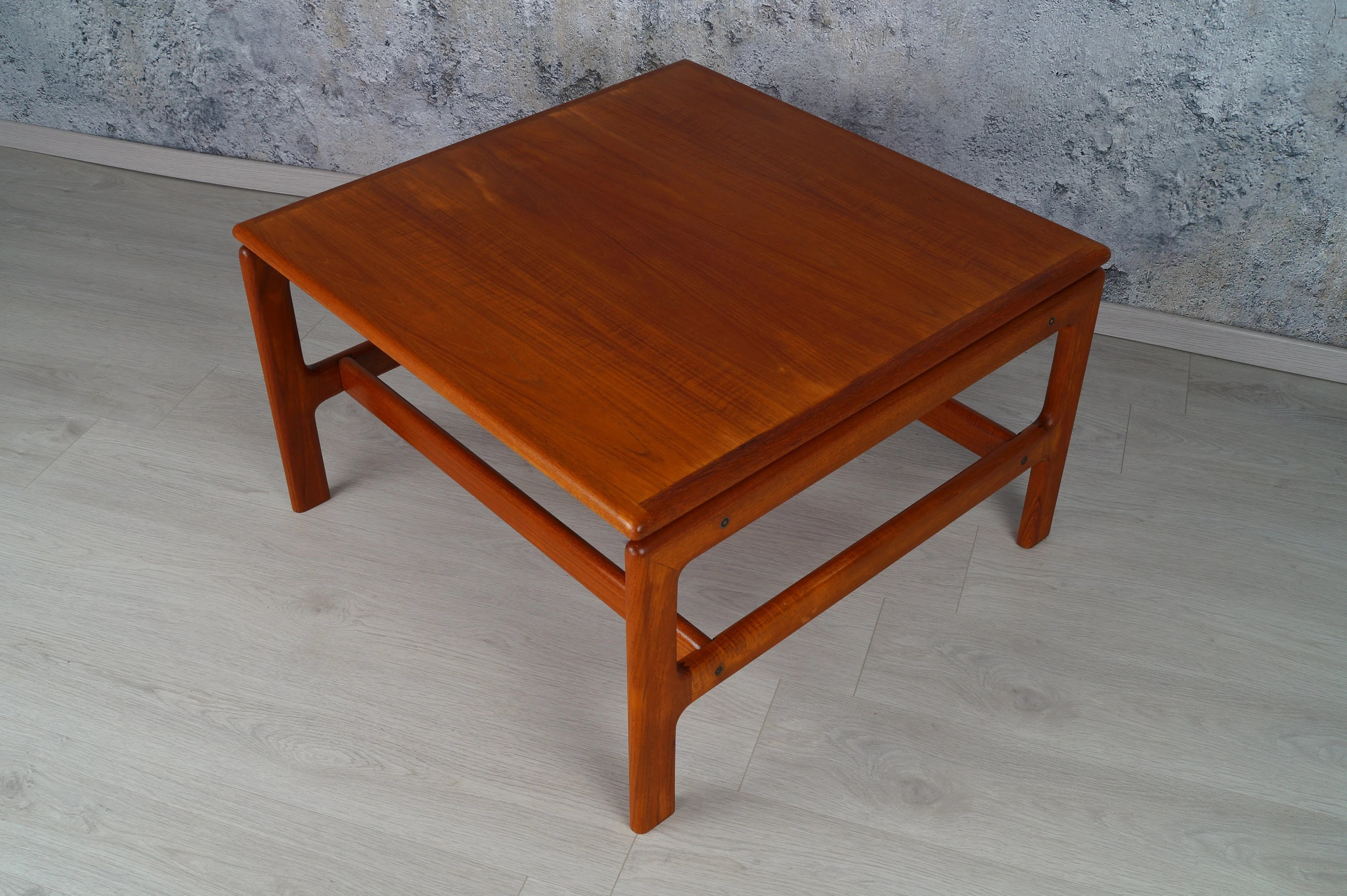 Teak Tisch 80x80 Teak Coffee Table 80 X 80 Cm Square Comfort 60s Danish 60s