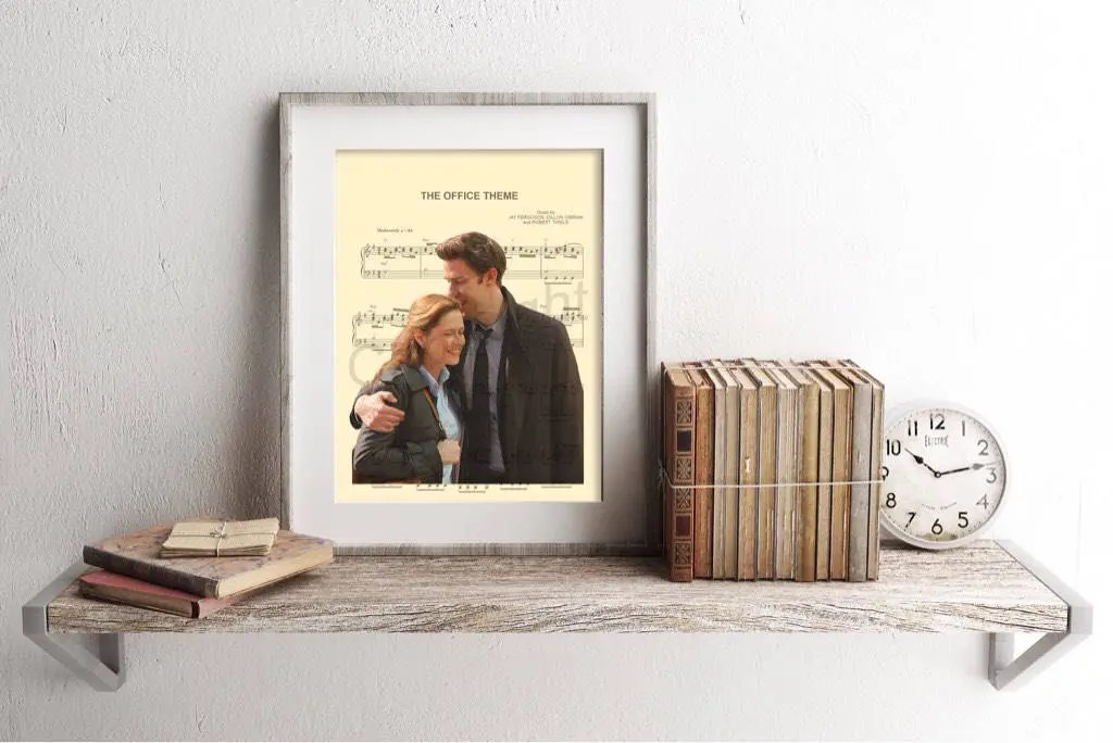 The Office Jim and Pam Sheet Music Art Print Etsy