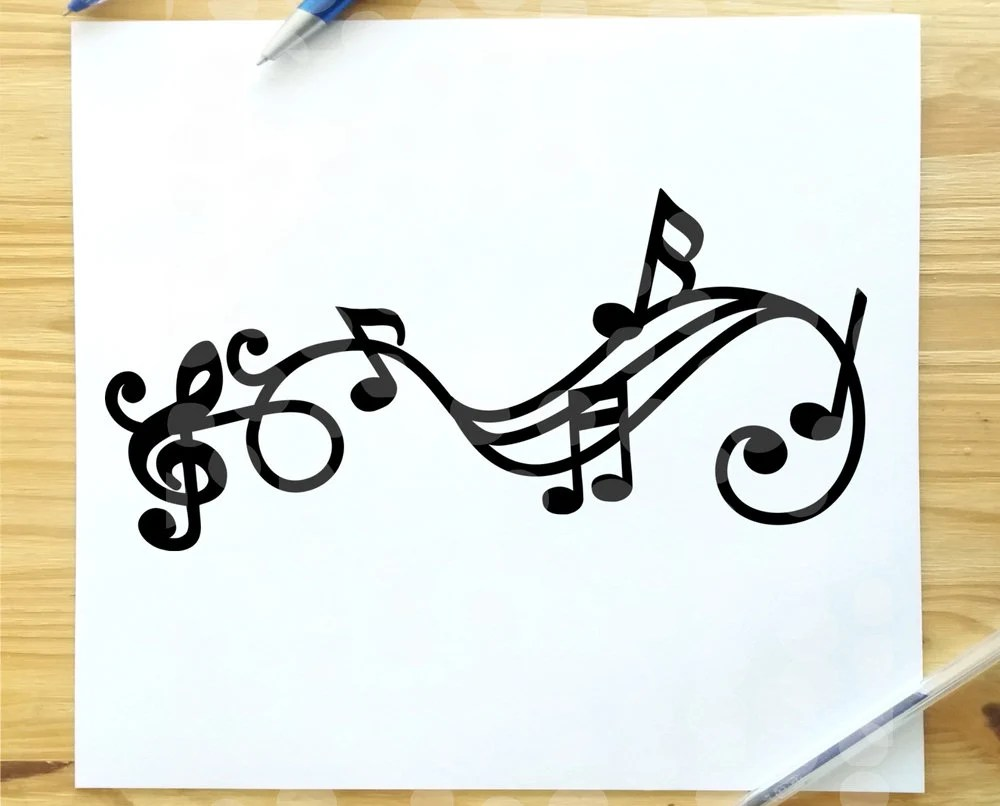 Music note svg music score svg music treble clef svg music Etsy