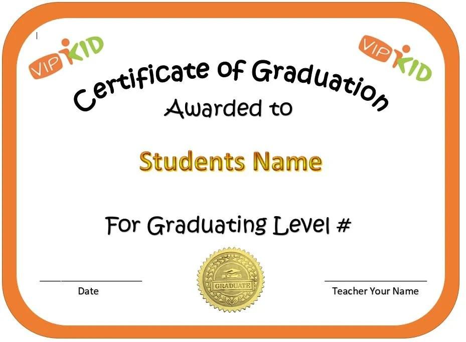 VIPKID Level Graduation Certificate Etsy