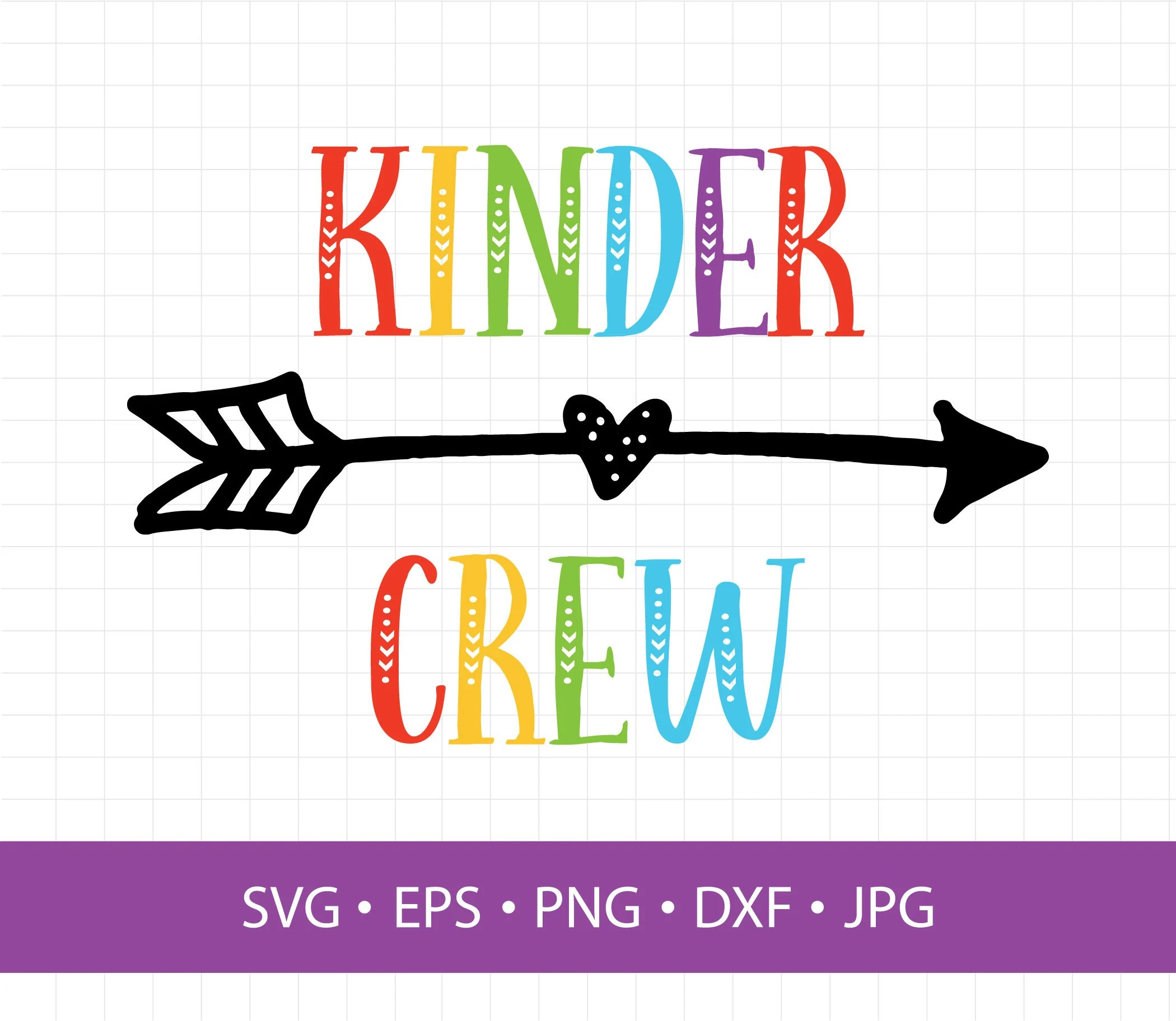 Kinder Cliparts Kinder Crew Svg Kindergarten Svg Svg Clipart In Eps Dxf Svg Cricut And Silhouette