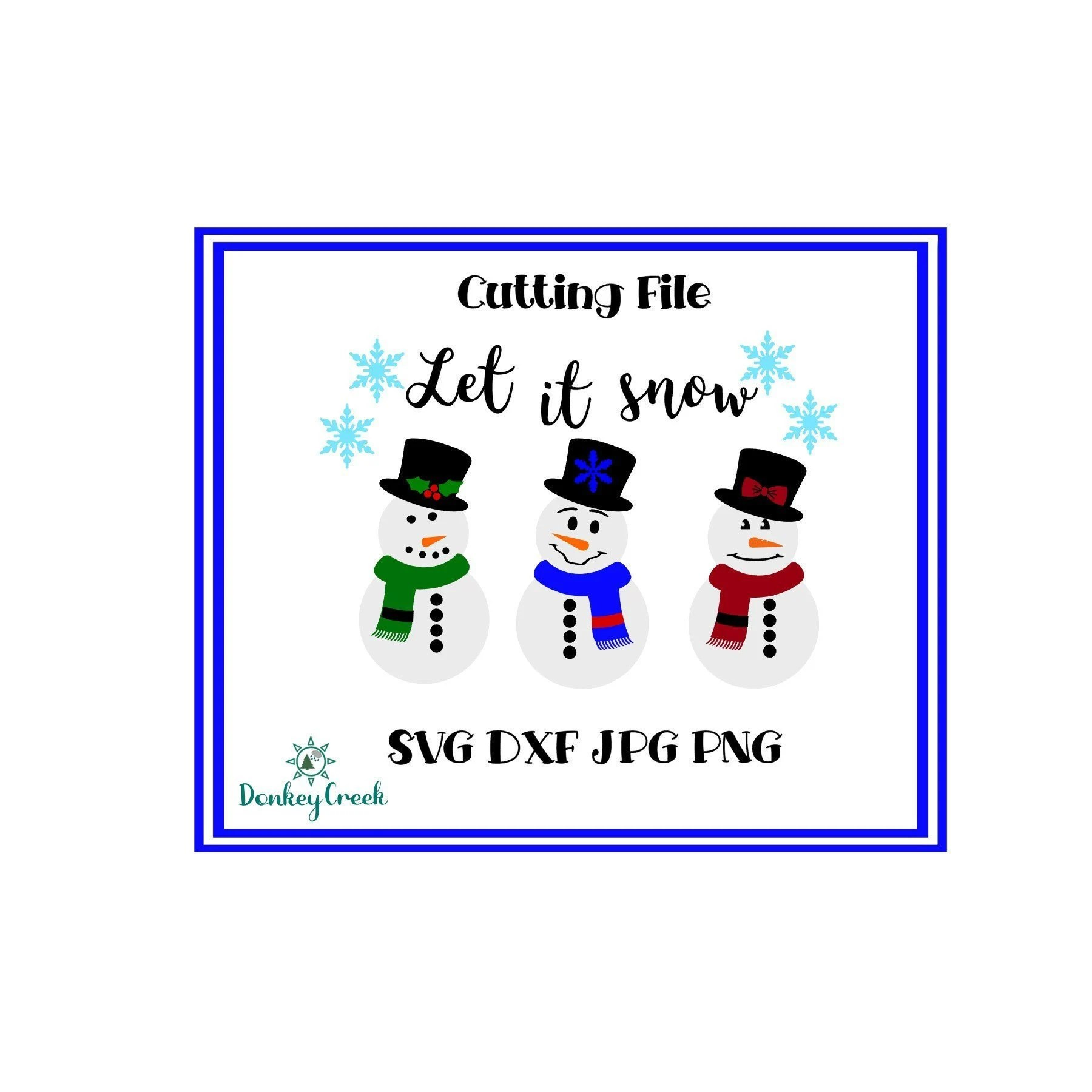 Let it snow SVG snowman silhouette file Christmas svg Etsy
